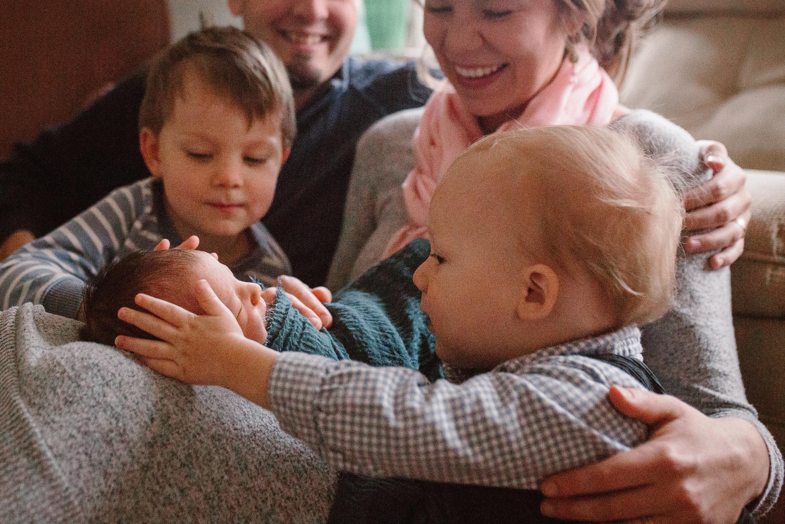 brothers siblings Newborn baby boy lifestyle documentary family Ashburn Virginia Loudoun Marti Austin Photography