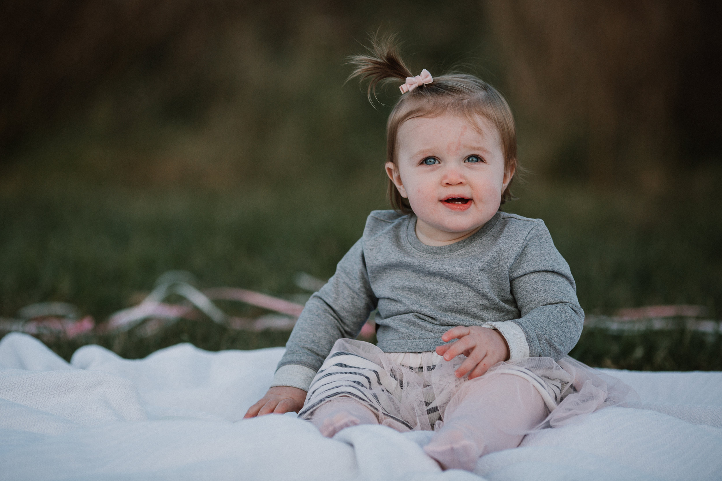 one year old toddler girl portrait Lifestyle Documentary Fall Autumn Sunset Golden Hour Family toddler first birthday cake smash Beaverdam Run Broadlands Loudoun Virginia Marti Austin Photography
