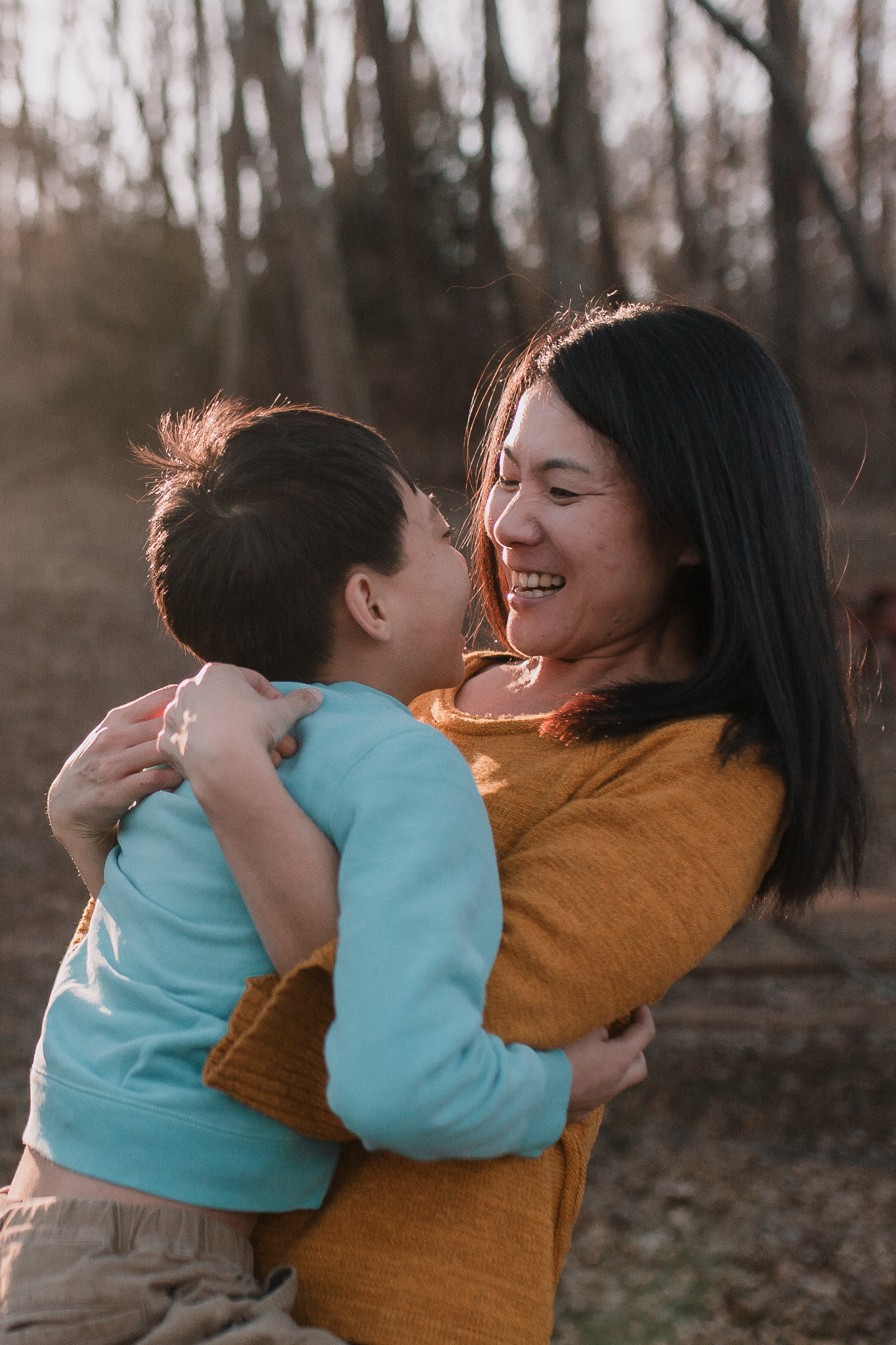 mother son Lifestyle Documentary Found Families Adoption Outdoor Golden Hour Sunset Colvin Run Mill Great Falls Virginia Marti Austin Photography