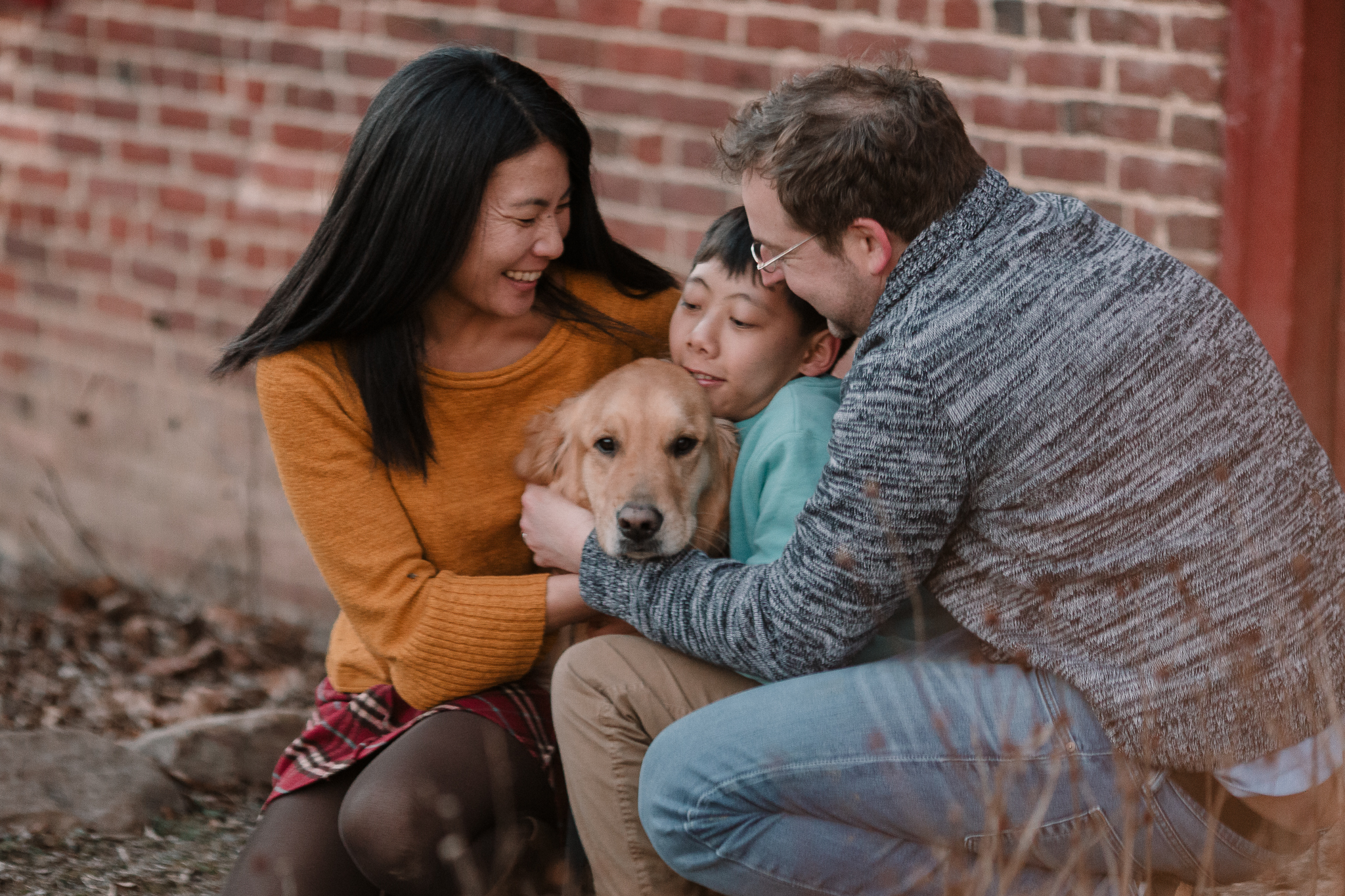 mother father son dog Lifestyle Documentary Found Families Adoption Outdoor Golden Hour Sunset Colvin Run Mill Great Falls Virginia Marti Austin Photography