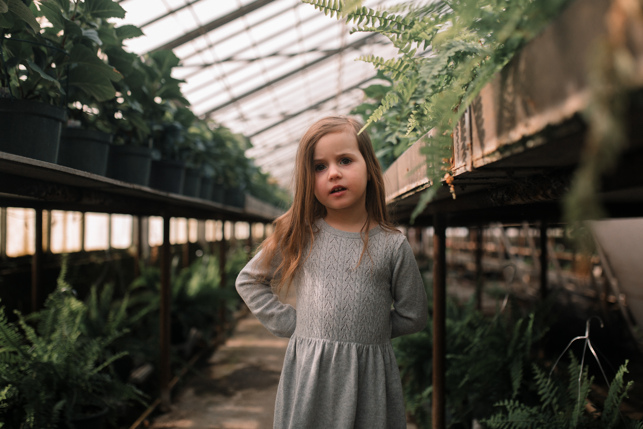 greenhouse plants outdoor girl lifestyle documentary family Ashburn Loudoun northern Virginia  childhood Marti Austin Photography