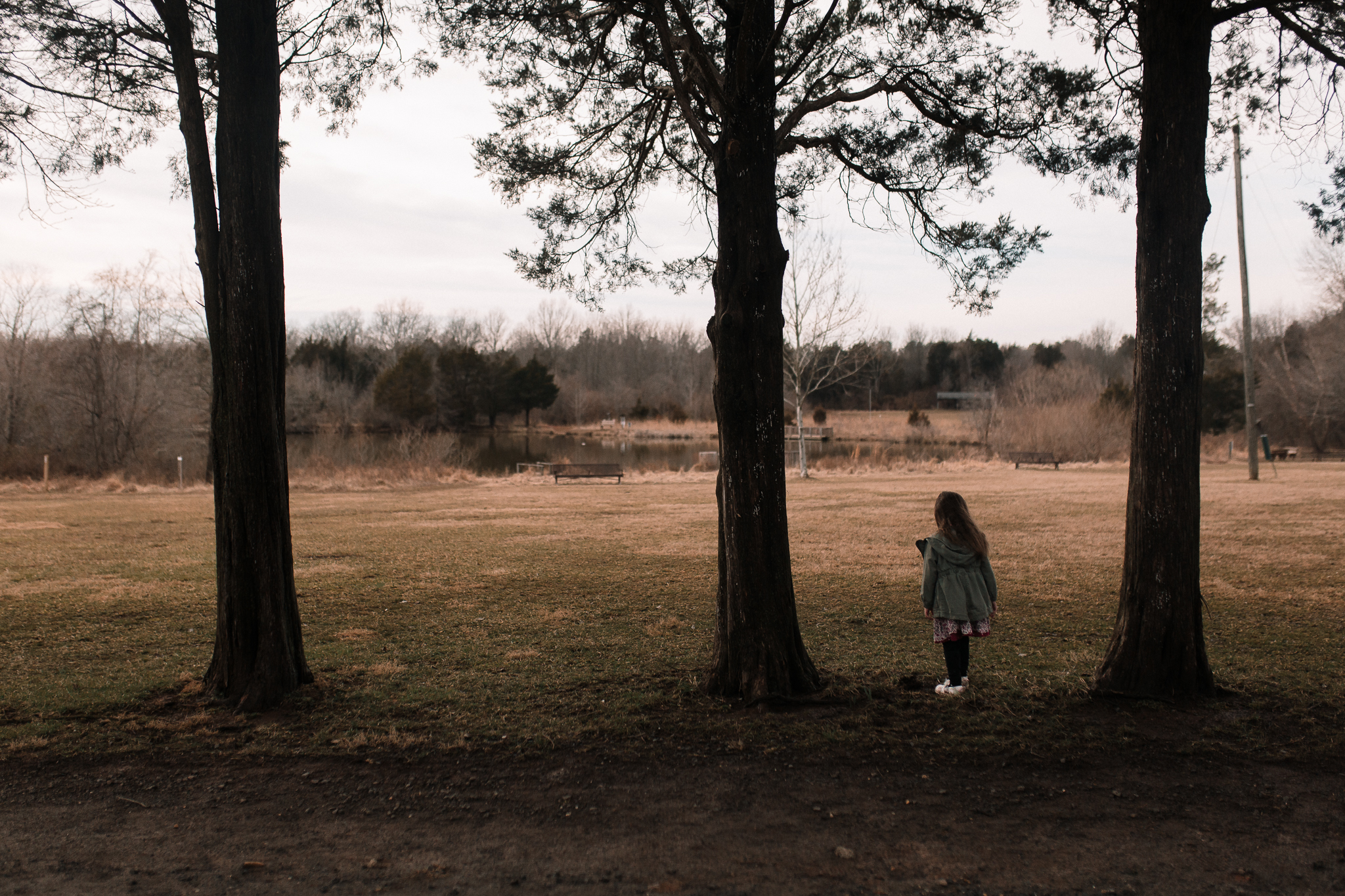 trees landscape girl lifestyle documentary family Ashburn Loudoun northern Virginia  childhood Claude Moore Park Marti Austin Photography