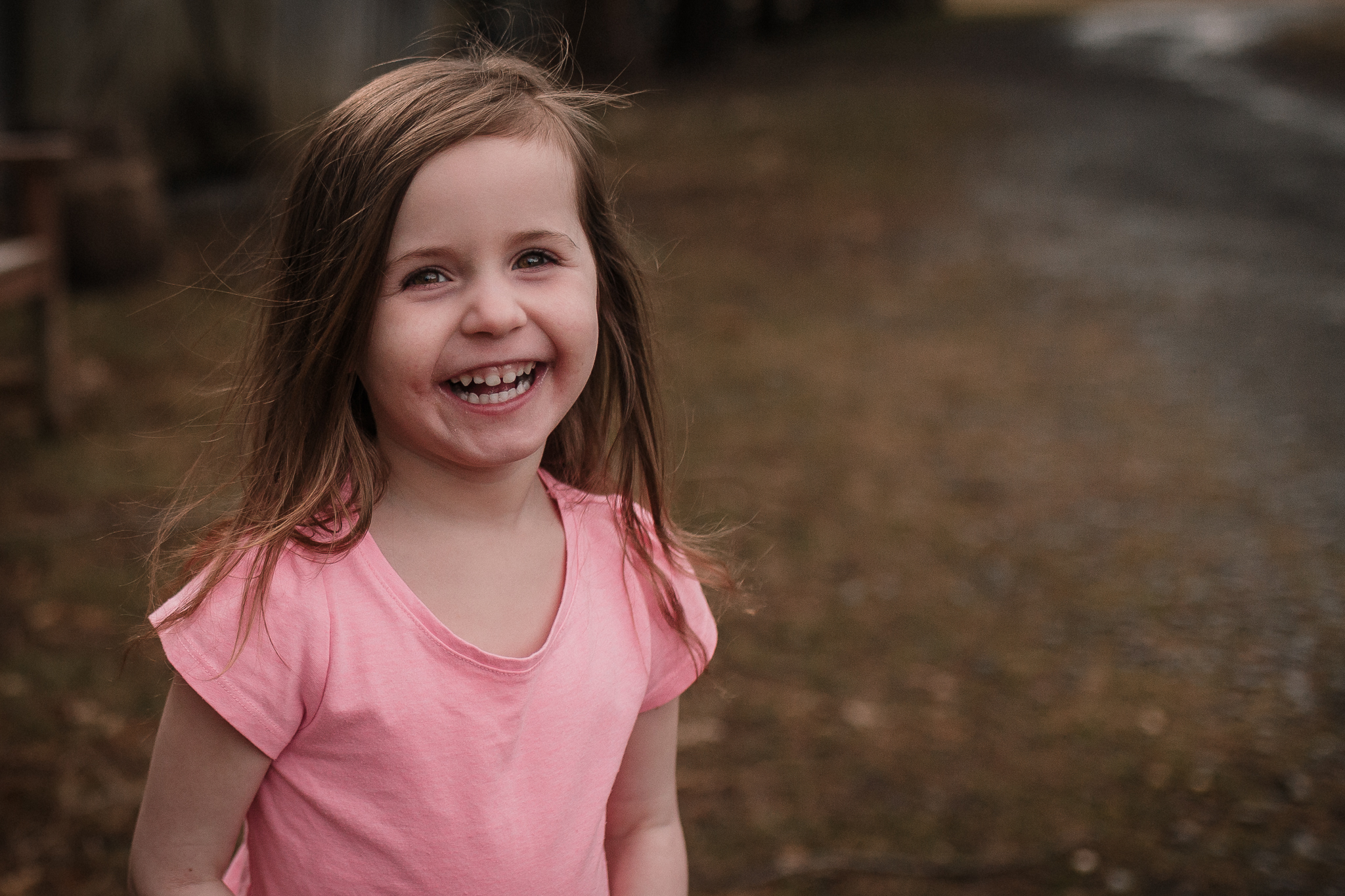 girl portrait laugh smile pink Claude Moore Park lifestyle documentary family Ashburn Loudoun northern Virginia  childhood Marti Austin Photography