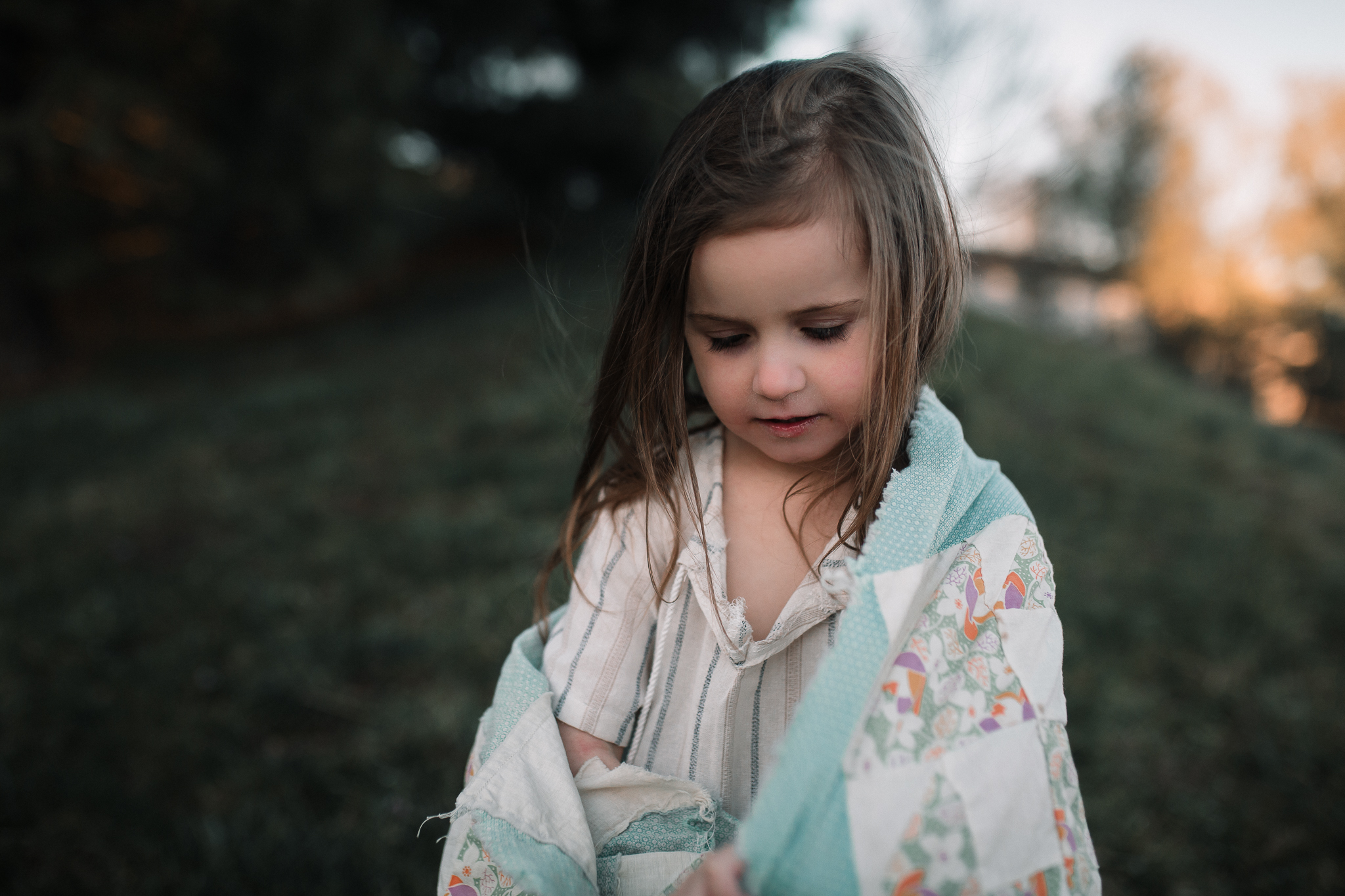 girl wrapped in quilt lifestyle documentary family Ashburn Loudoun northern Virginia  childhood Marti Austin Photography