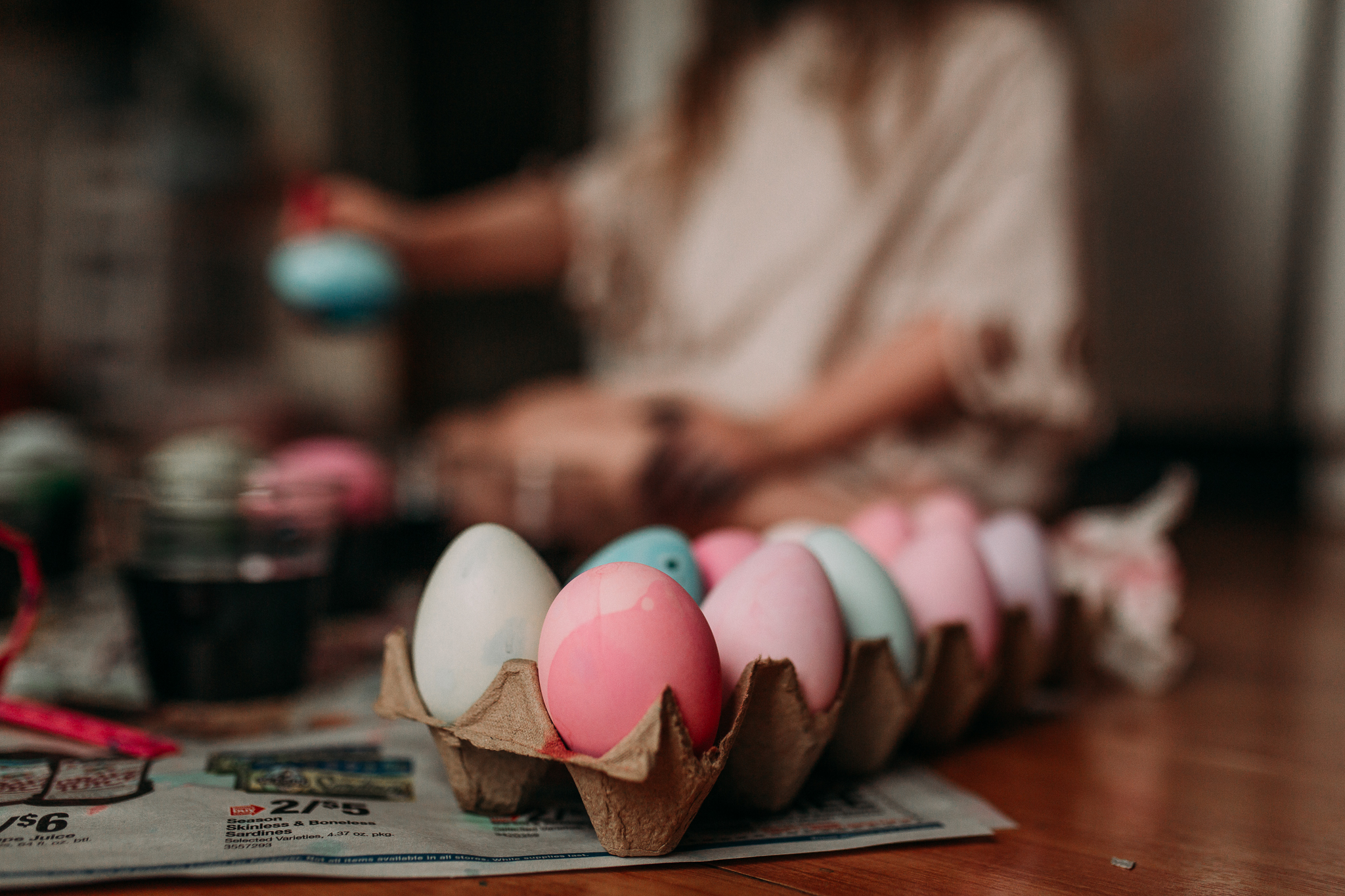 Easter egg painting details lifestyle documentary family childhood Ashburn Loudoun Northern Virginia Marti Austin Photography