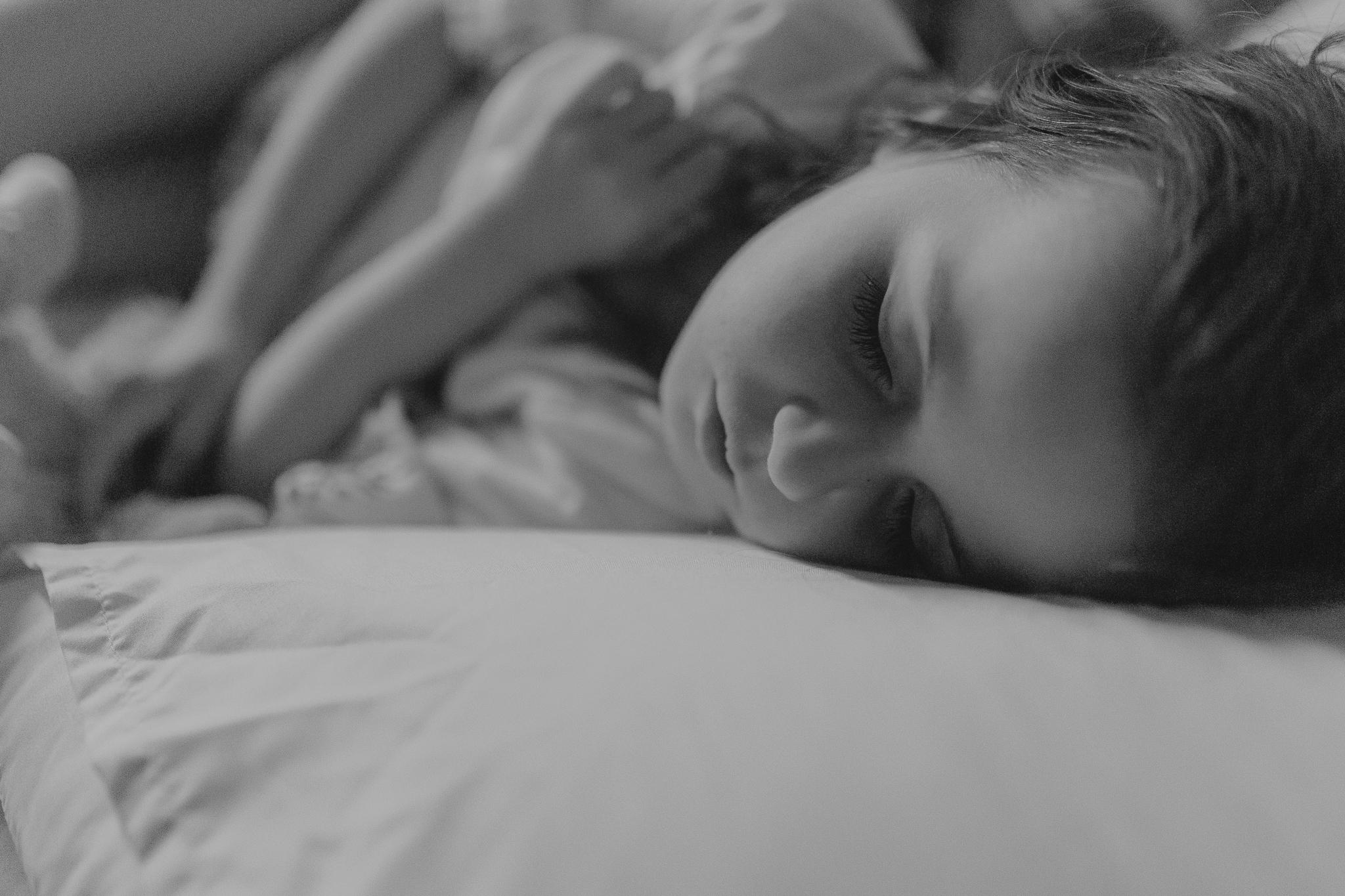 black and white girl sleeping lifestyle documentary family Ashburn Loudoun Northern Virginia Marti Austin Photography