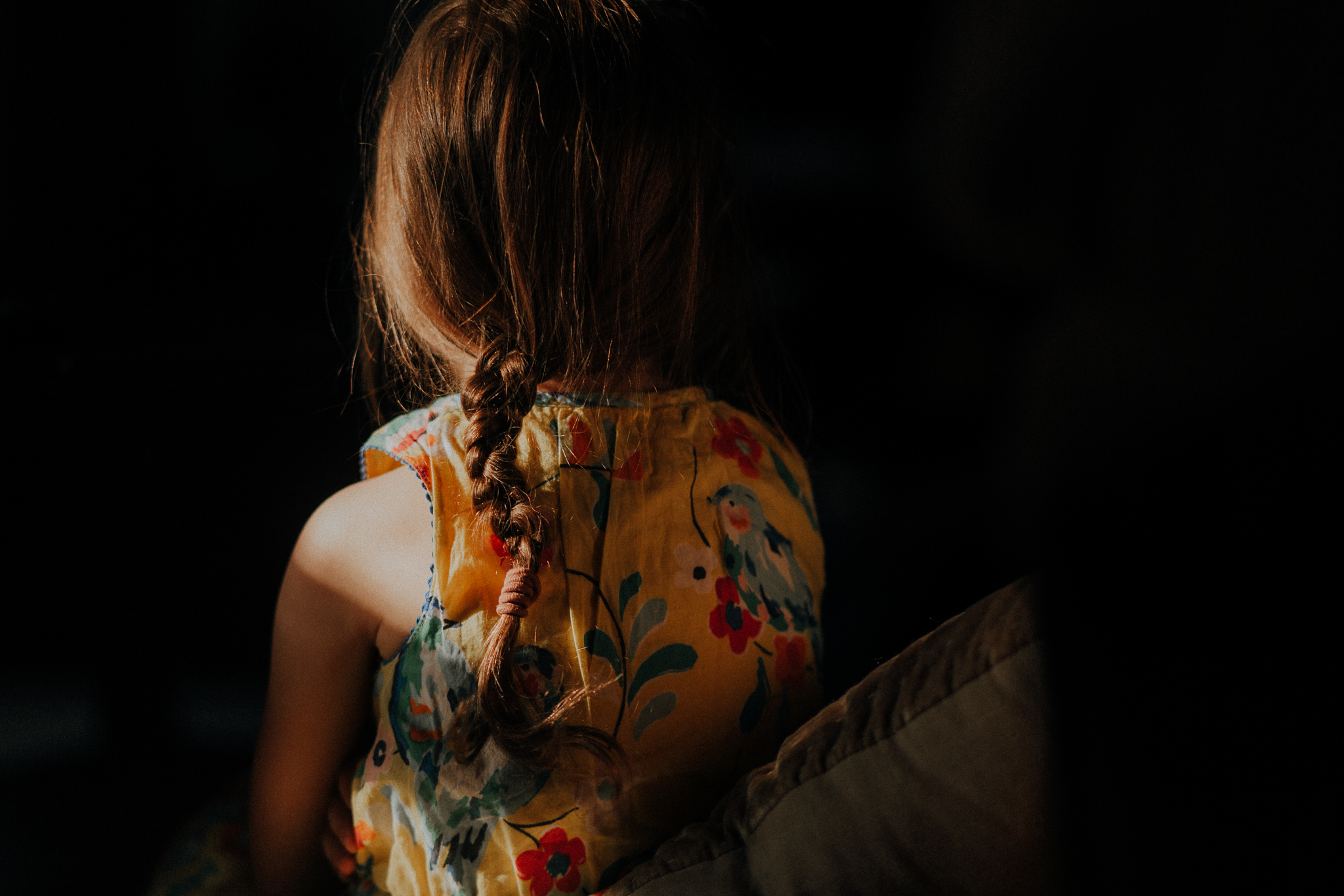 detail girl's braid lifestyle documentary family Ashburn Loudoun Northern Virginia Marti Austin Photography