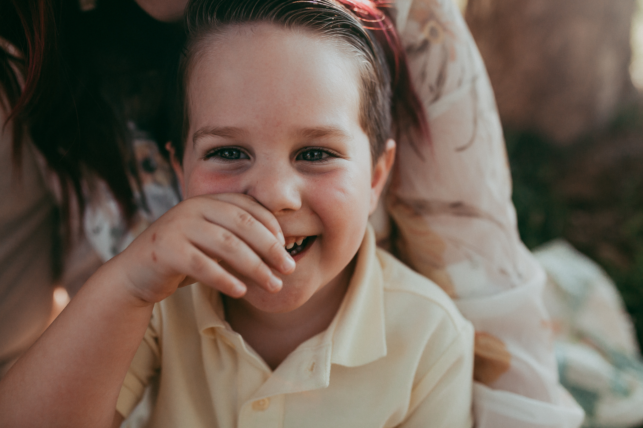 portrait boy laughing  Brambleton Beaverdam Reservoir Loudoun Virginia Lifestyle Documentary Family Marti Austin Photography