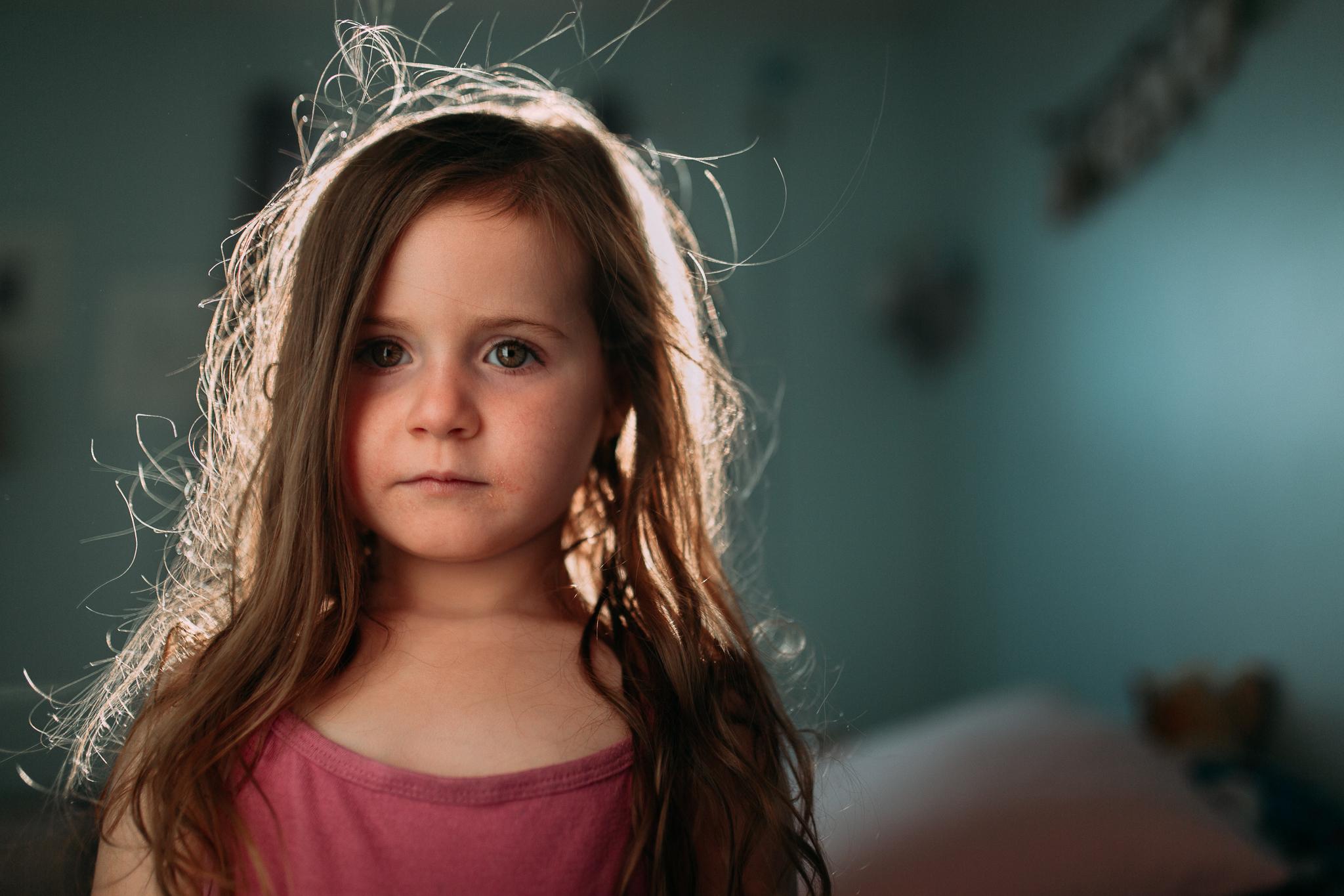 girl portrait indoor summer Ashburn Loudoun Northern Virginia family lifestyle documentary childhood Marti Austin Photography
