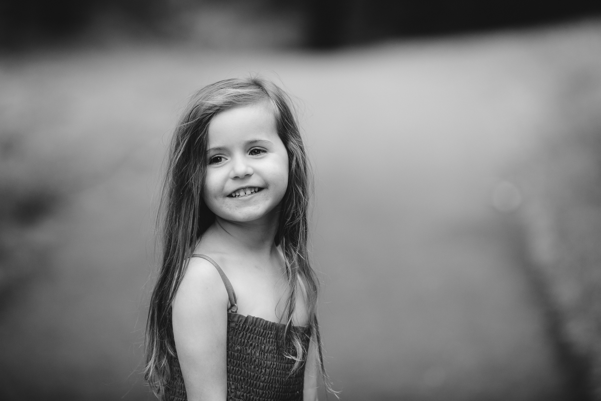 black and white portrait of a girl summer Ashburn Loudoun Northern Virginia family lifestyle documentary childhood Marti Austin Photography