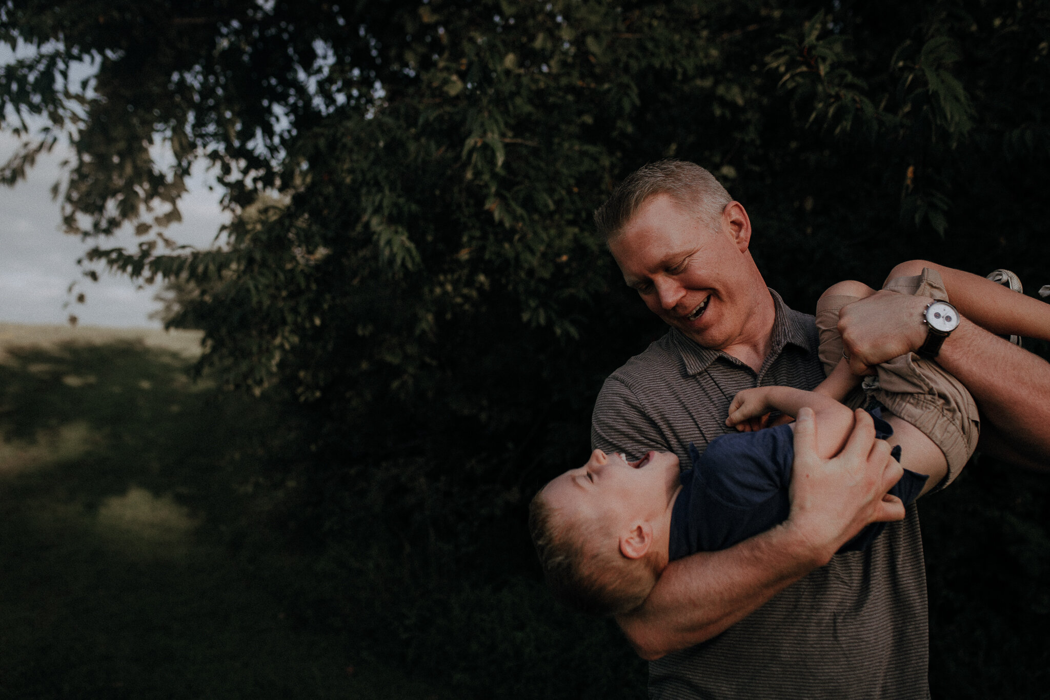 father son upside down giggles brothers Ida Lee Leesburg Loudoun Virginia Lifestyle Documentary Maternity Family Marti Austin Photography