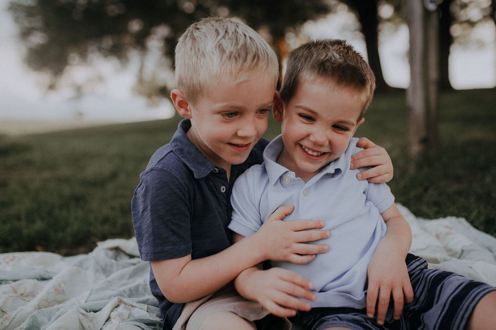 brothers hugging laughing brothers Ida Lee Leesburg Loudoun Virginia Lifestyle Documentary Maternity Family Marti Austin Photography