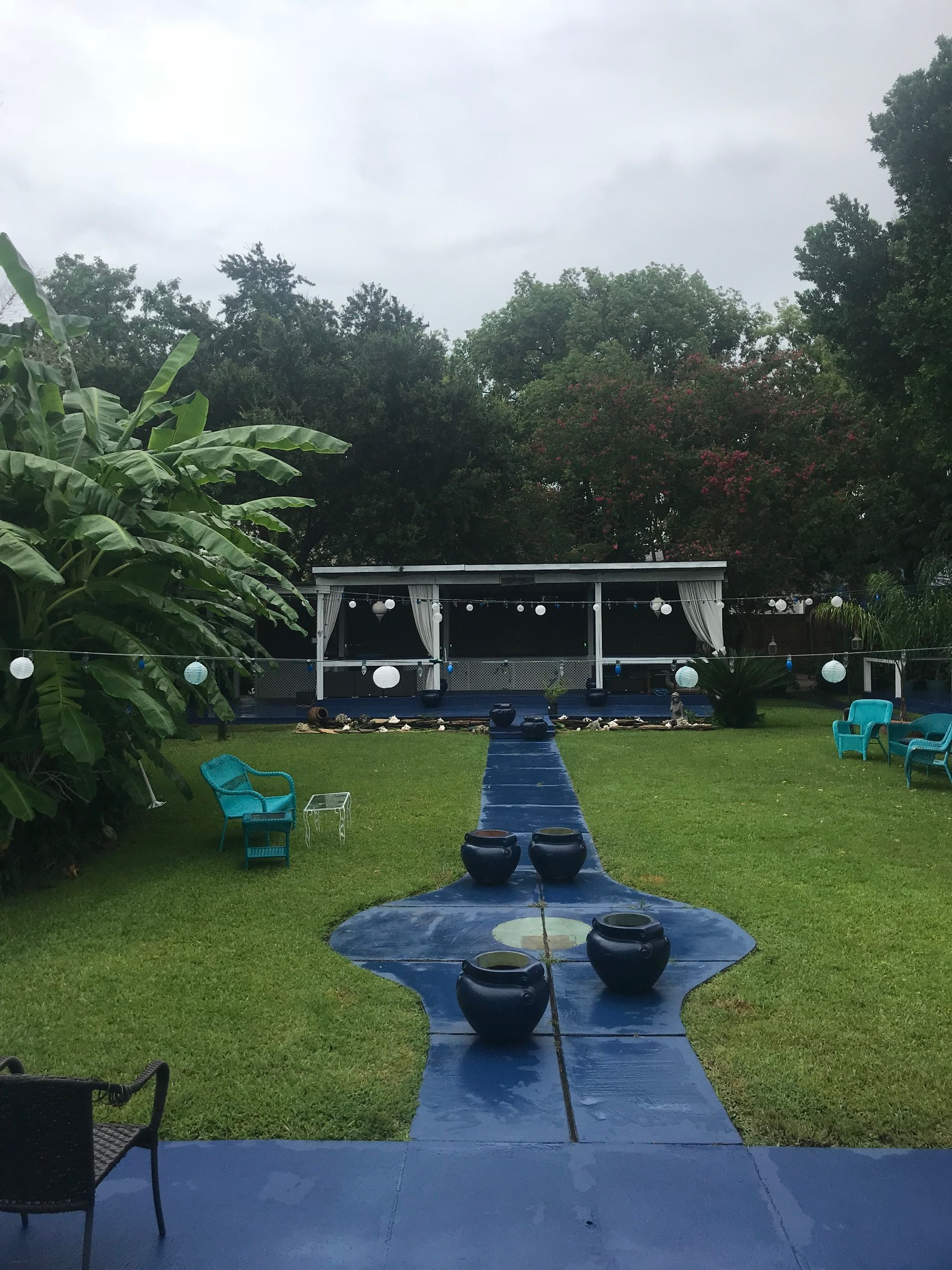 The backyard at Hotel Storyville