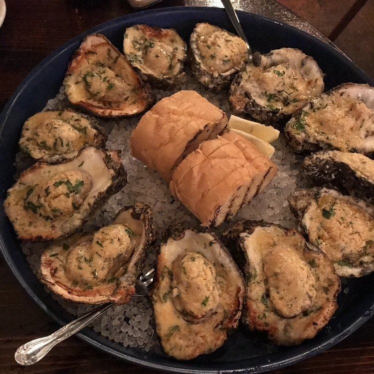 Chargrilled oysters at   Basin Seafood and Spirits