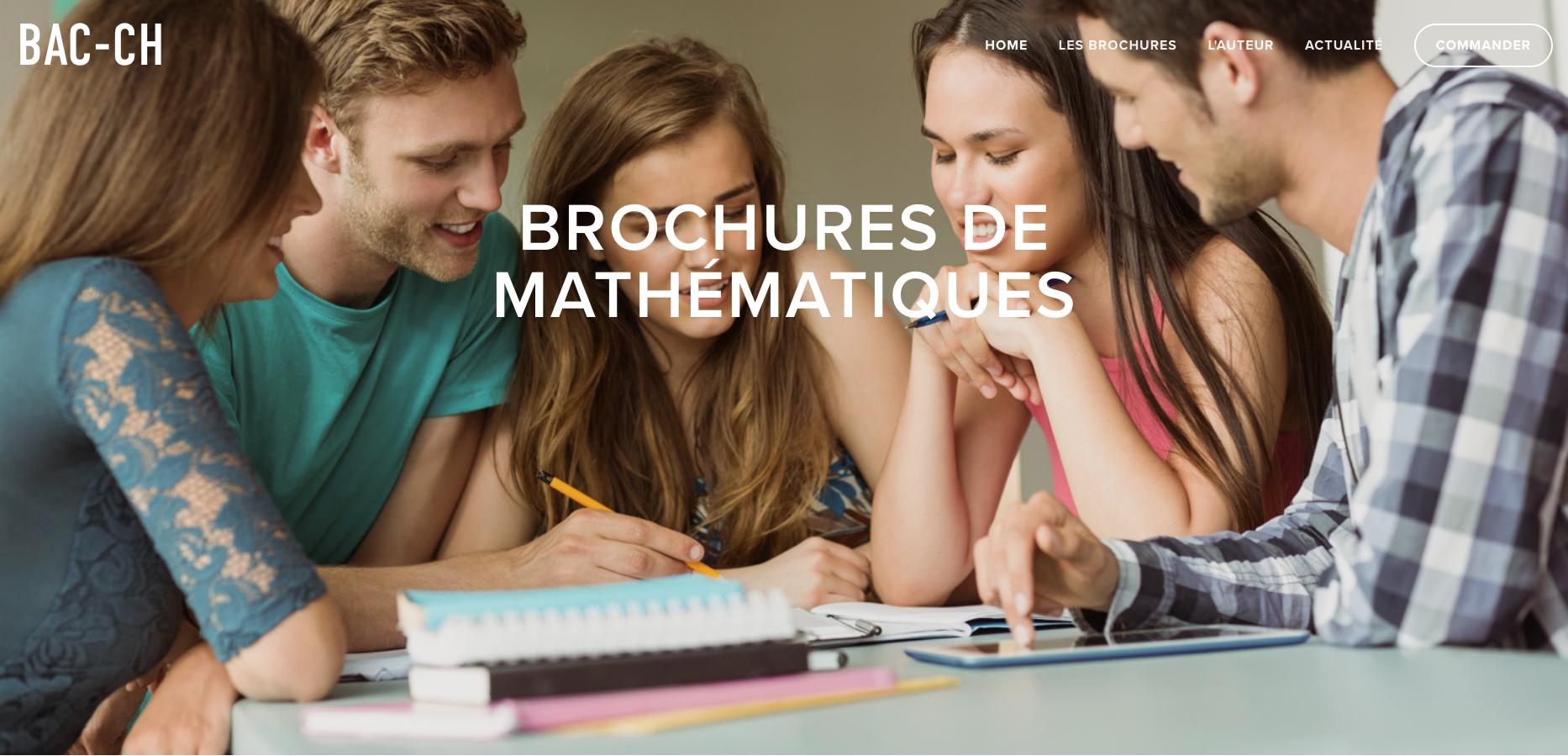 BAC-CH, brochures d'exercices de mathématiques