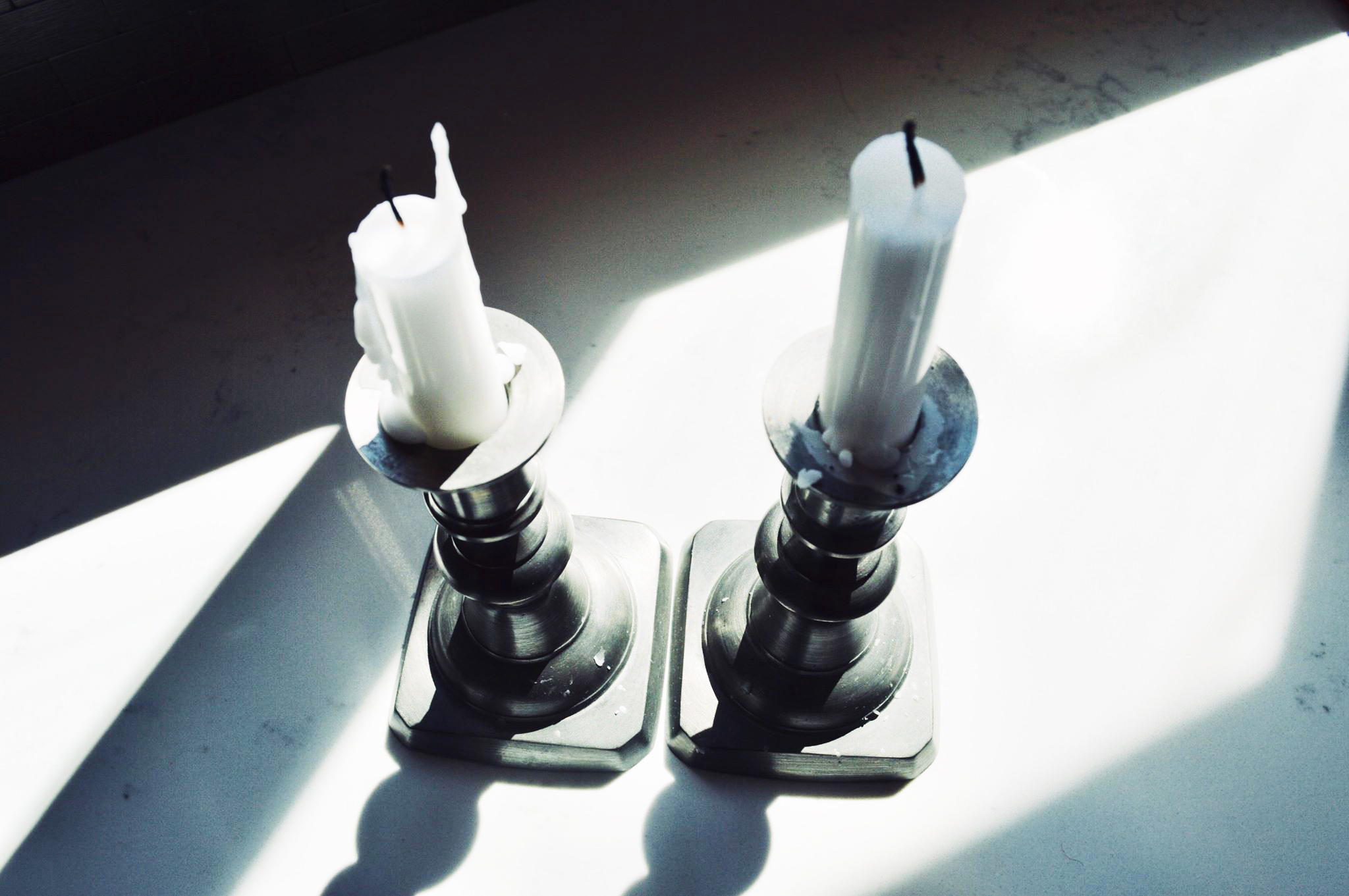 tapers, candles