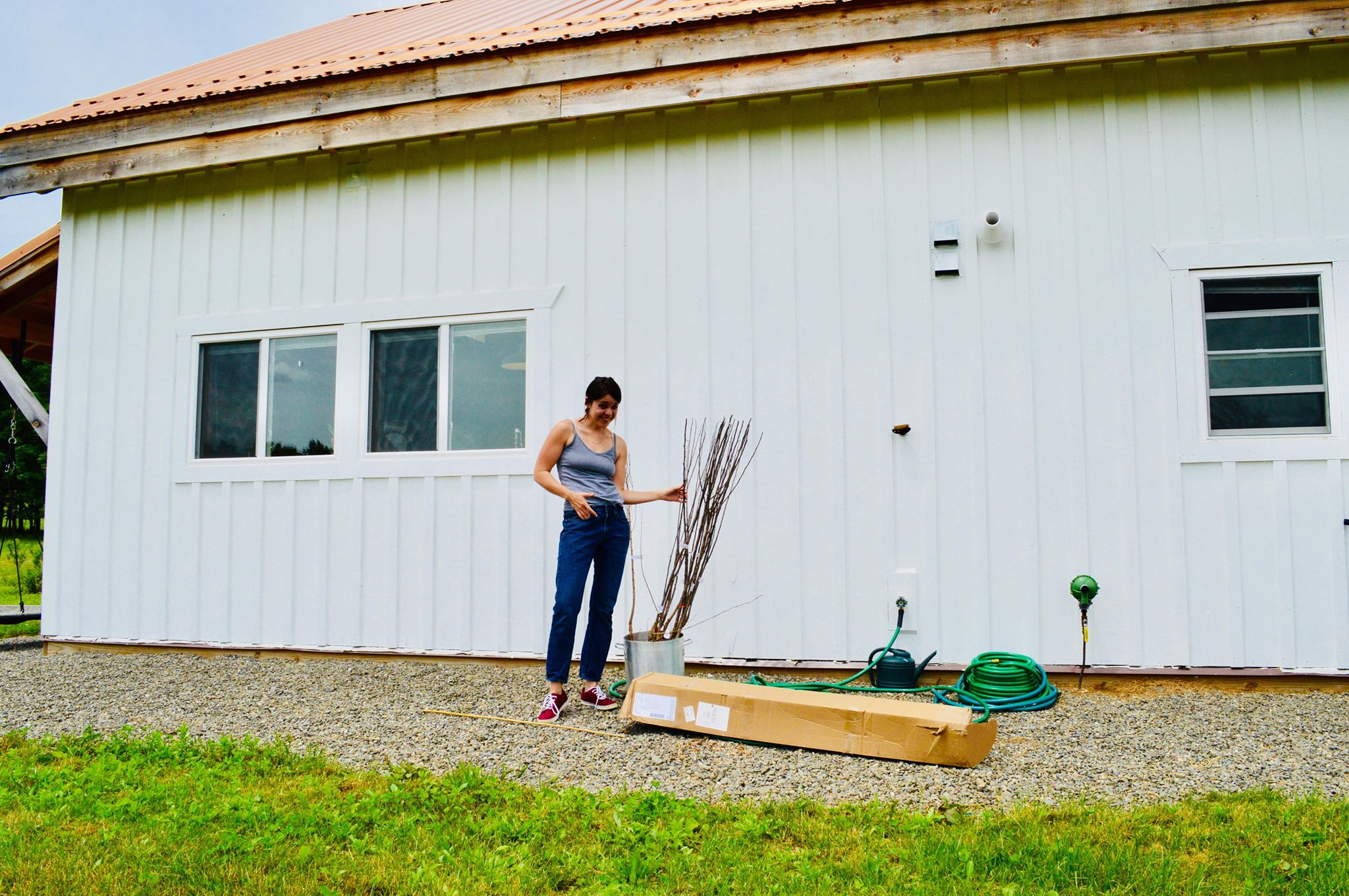 mini orchard, homesteading, farmette, microfarm, women who farm, fruit trees, organic homestead, permaculture, bioswales