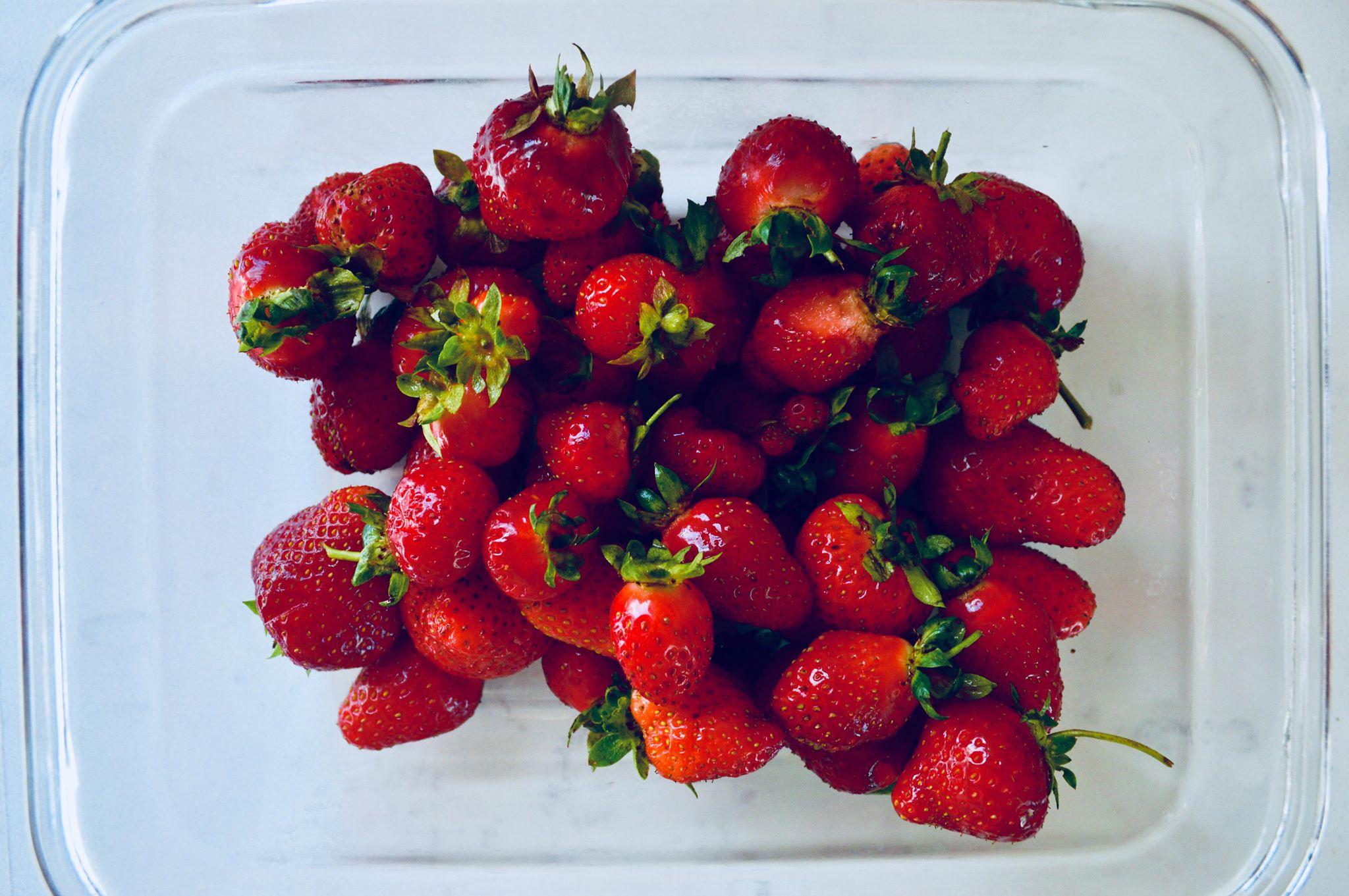 backyard gardening, modern homestead, homegrown, fresh strawberries