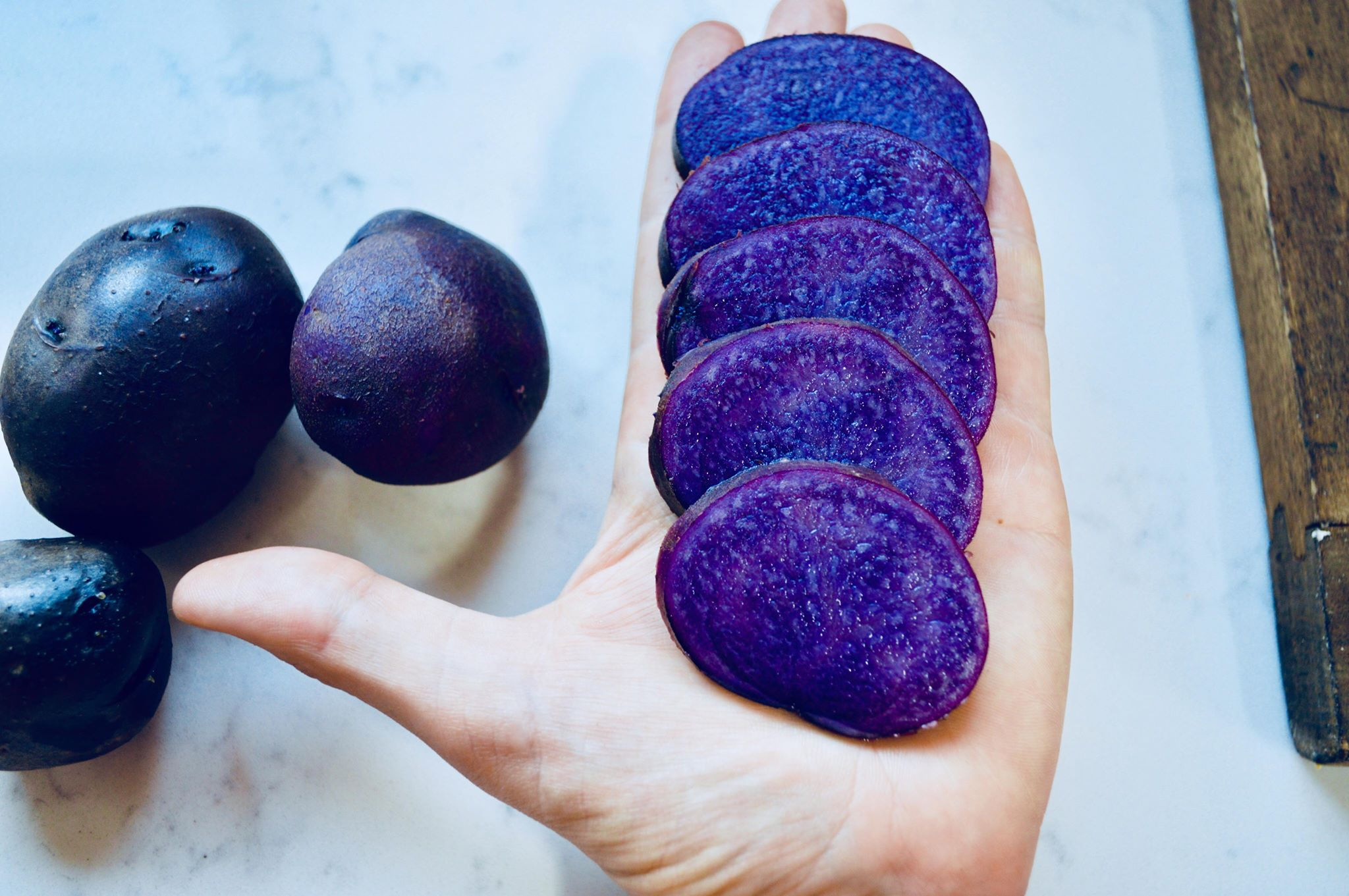 purple potatoes, modern homestead, summer harvest, organic life, plant based home