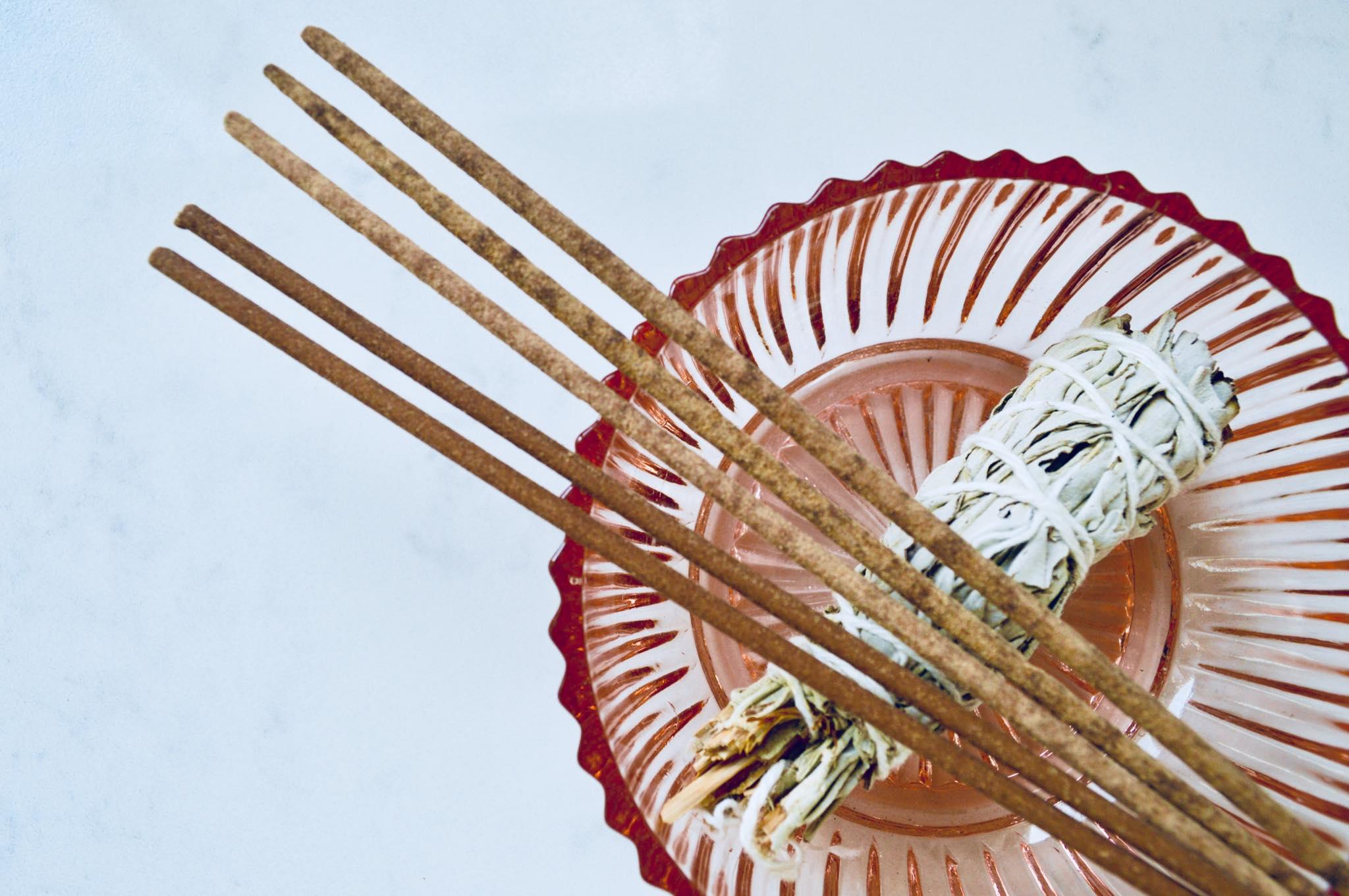 incense, modern homestead, minimalism, simple living