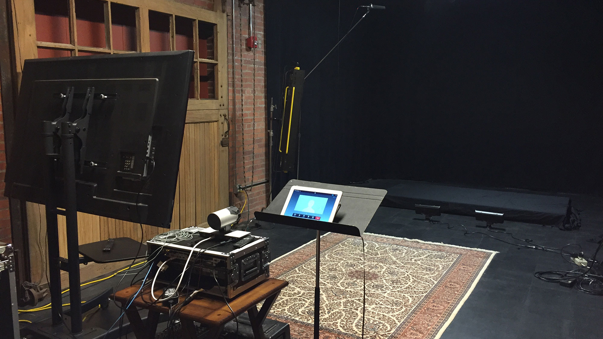 Filming can be done anywhere in the world. Here is a set-up at our headquarters in Cleveland, Ohio.