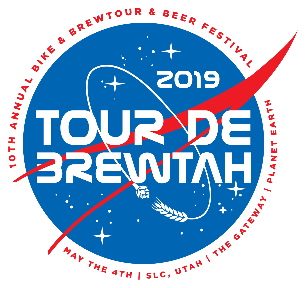 "WELCOME TO THE 10TH ANNUAL TOUR DE BREWTAH - Utah's premiere ""Bike & Brewtour"" is proud to present our 10th annual event, where we invite riders of all abilities to join us for a ""SPACED-X"" experience."