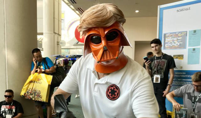 And no, that wasn't Mark Hammill dressed as an orange Darth Vader, that's fake news, but that's why we love this con.