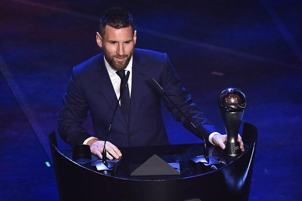 Leonel Messi avec son 6ème trophée The Best FIFA 2019