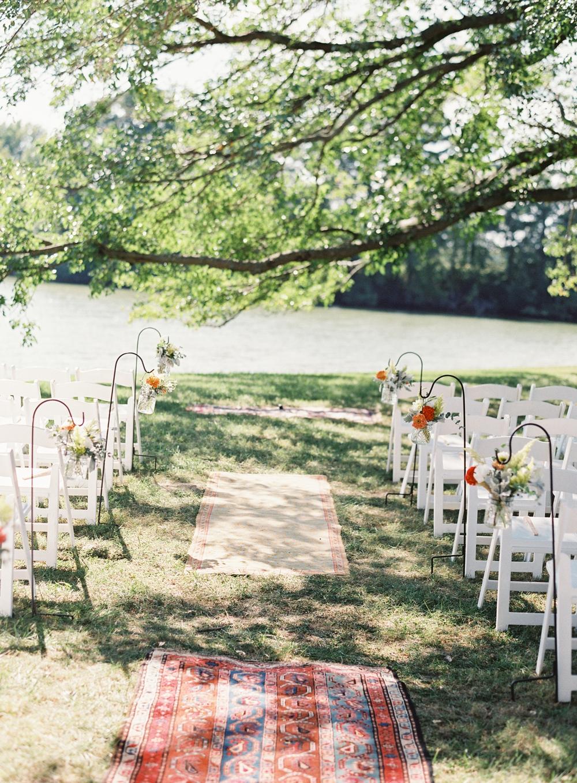 aisle flowers, Vickie Grafton Photography