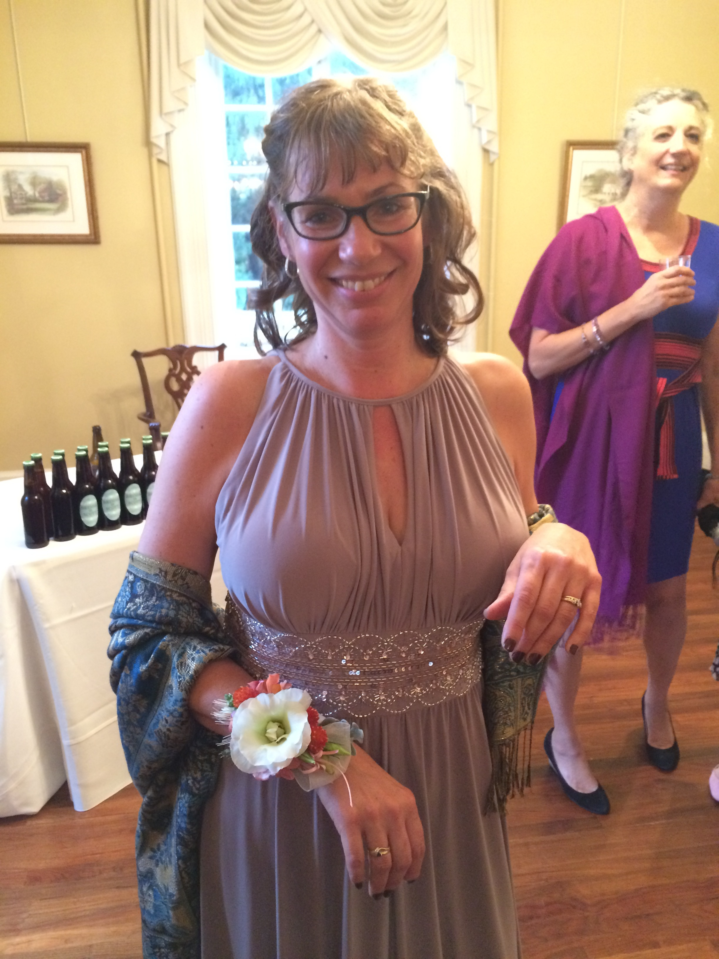 Mother of the Bride wrist corsage