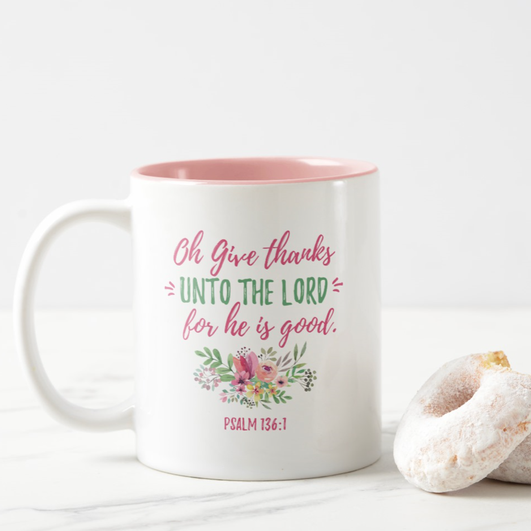 Oh Give Thanks Mug