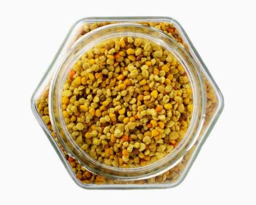 Bipollen - Bipollen består af ca. 40 procent protein. Det anses for en af naturens mest nærende og komplette fødevarer, fordi det indeholder næsten alle de næringsstoffer, vi har behov for. 50 procent af proteinet er i form af frie aminosyrer, der er klar til at blive brugt af kroppen. Og det indeholder B12-vitamin, der ellers kun sjældent findes i planter og planteprodukter, og som er vigtigt for forbrændingen af fedt, kulhydrater og protein og for opbygningen af blodlegemer og knoglemarv. Bipollen er perfekt i juicer og smoothies og kan også bruges som drys på morgenmaden eller i salaten.Vores søn får bipollen og manukahonning til morgenmad hver eneste dag!