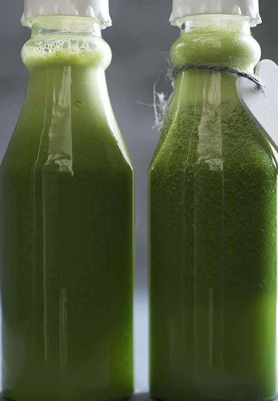 grøn-juice-på-flaske