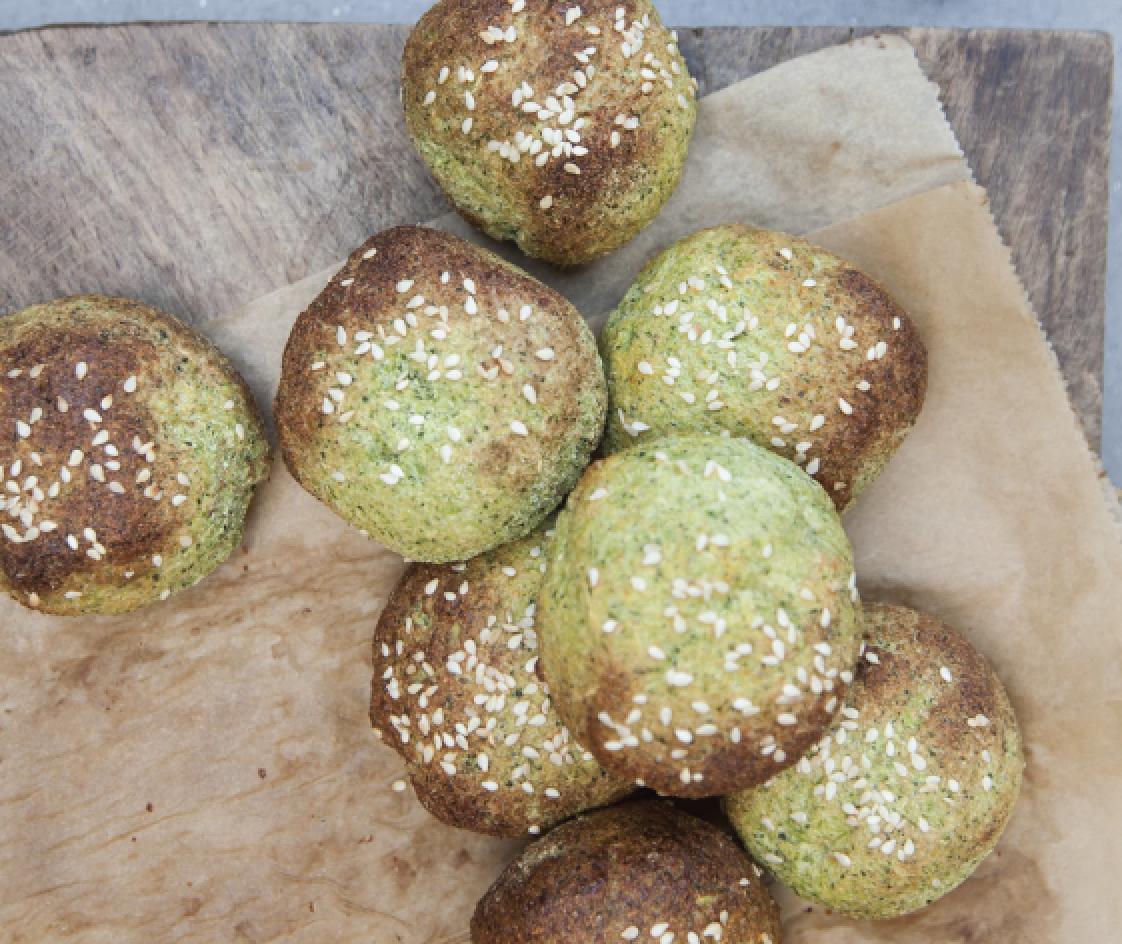 Glutenfri grønne proteinboller