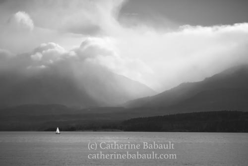 À l'approche de la tempête. Vallée de Comox, Ile de Vancouver, Colombie Britannique, Canada
