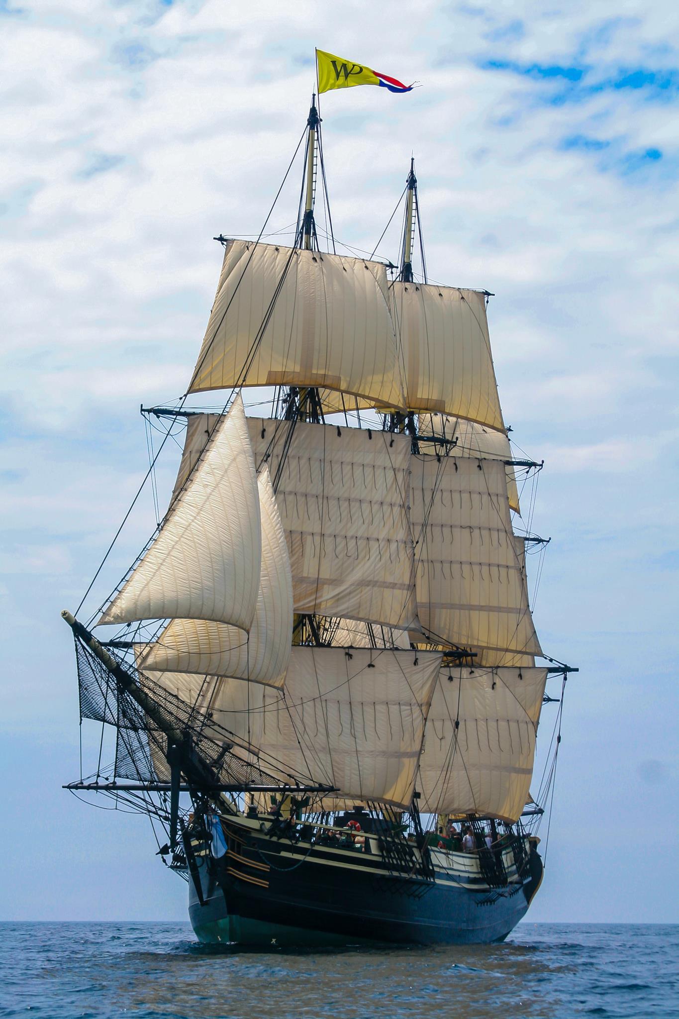The Friendship of Salem under sail.