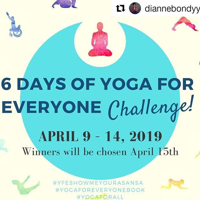 I am joining in on this great challenge  to celebrate the book Yoga For Everyone by Dianne Bondy! Yoga IS for everyone.  #Repost @diannebondyyoga (@get_repost) ・・・ 📢 💖 Announcement!! **Mat, Book & Leggings give away!!** 💖 📢⠀ ⠀ Join me for a #YFESHOWMEYOURASANA challenge beginning April 9th to 14th. Each day for 6 days we will post a variation of the listed pose below 👇🏿. I have chosen 6 poses as part of the challenge based on YOUR favourites. Show your perfect variation that is unique only to you. This challenge is for ALL bodies, ALL levels. Let us bring awareness together that Yoga is for Every Body! ⠀ ⠀ To be eligible for a chance to win some goodies, follow these steps! ⠀ ⠀ 1. REPOST this challenge to let me know you're in! ;)⠀ ⠀ 2. Follow me @diannebondyyoga and the generous sponsors:⠀ @liforme⠀ @fractal.9⠀ @dkbooks⠀ ⠀ 3. Participate daily using these hashtags: ⠀ #YFESHOWMEYOURASANSA ⠀ #YogaForEveryonebook⠀ #yogaforall⠀ ⠀ 4. Tag a friend to join in and have fun!⠀ ⠀ 💖 Pose list ⠀ Day 1: Pigeon ⠀ Day 2: Dancer⠀ Day 3: Bow⠀ Day 4: Boat ⠀ Day 5: Camel⠀ Day 6: Eagle⠀ ⠀ #YFESHOWMEYOURASANSA  #YogaForEveryonebook #yogaforall #yogachallenge #yogachallenge2019 #yogaforEveryBody