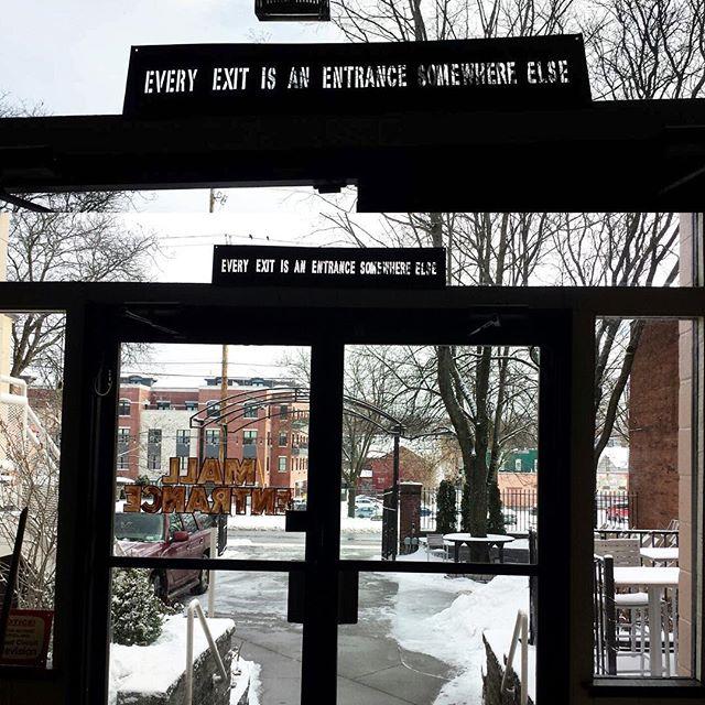 Exit or entrance? #doorwaysartshow #literaldoorway #figurativedoorways #doorwaysofsaratogasprings