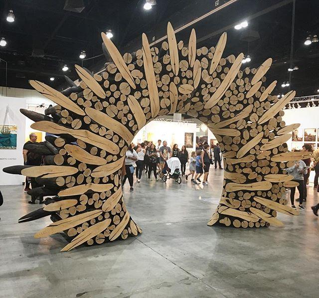 Wooden archway by Lee Jae-Hyo. #doorwaysartshow #doorwaysoflosangeles #designlaart #laartshow2018