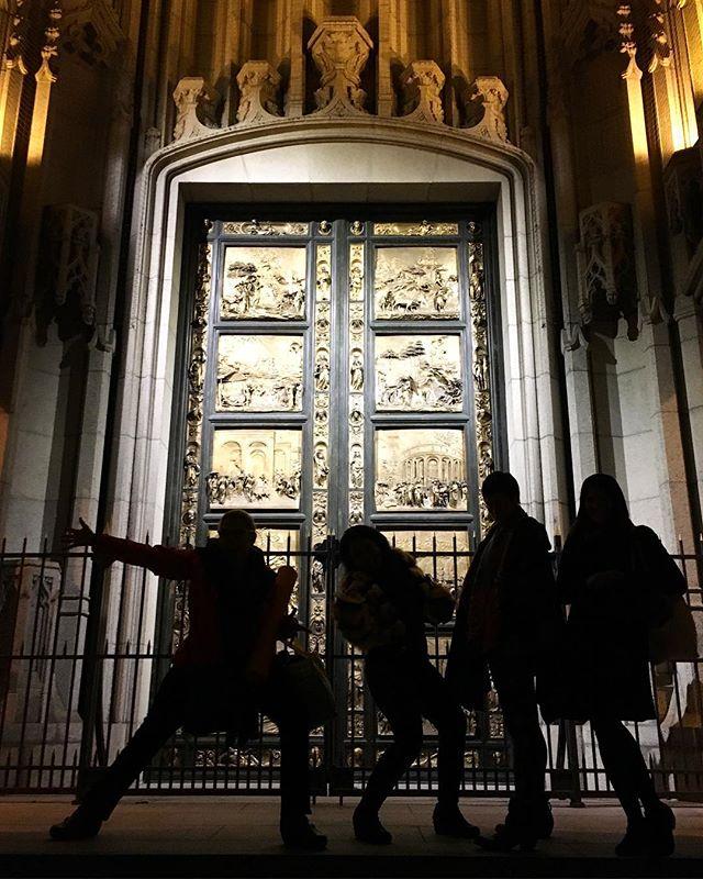 Lorenzo Ghiberti's bronze Doors of Paradise, replicas of famous doors from Florence, Italy. #doorwaysartshow #doorwaysofsanfrancisco