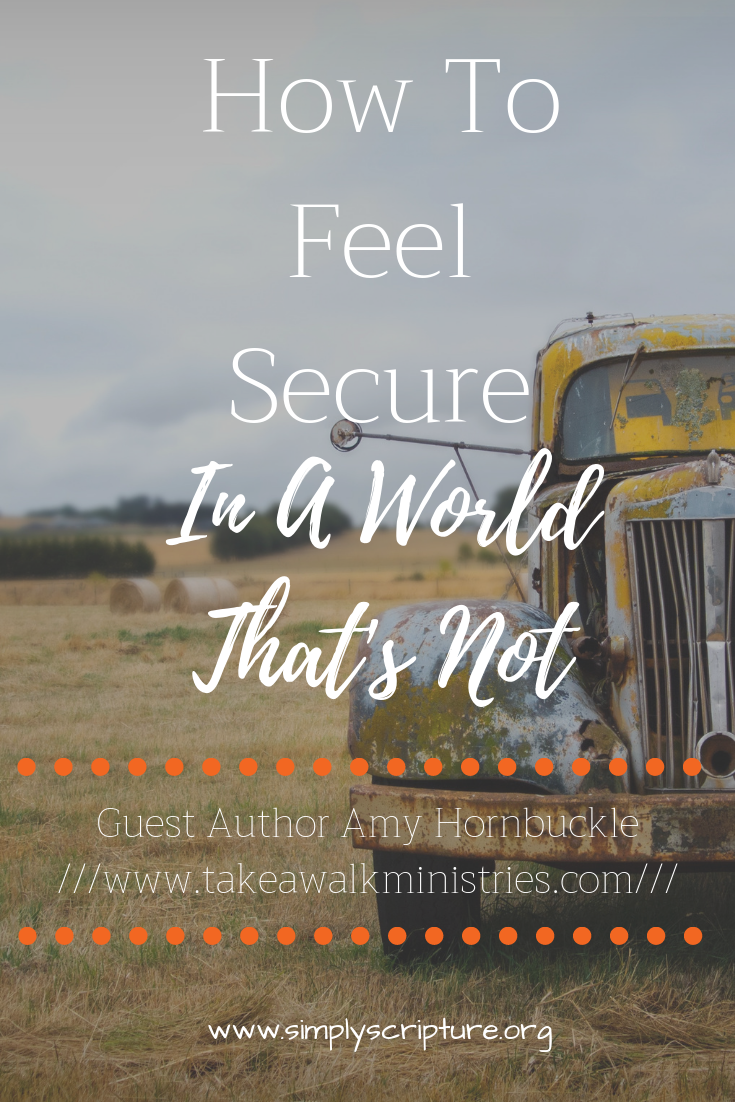 So often we spend our time and energy on things that are fleeting at best. How can we be secure when the world shouts so loudly? -Simply Scripture
