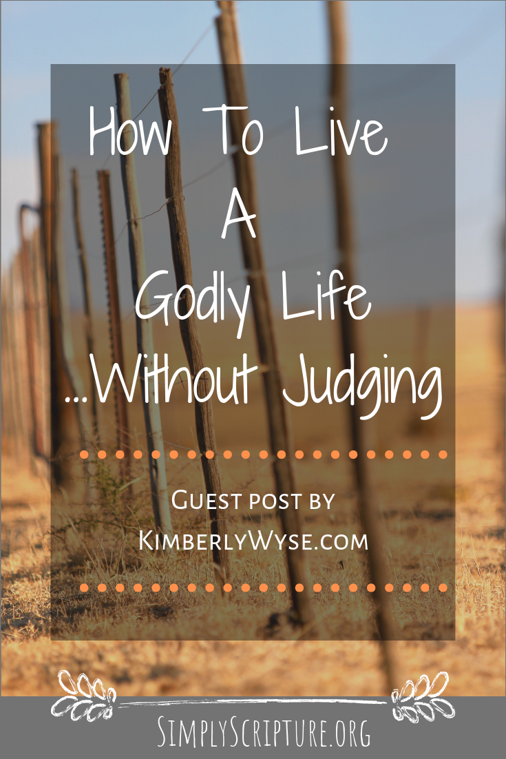 """How do we live a godly life in an ungodly world? How do we manage to sort out sinful judgment of others from the Scripture's command to """"know their fruit?"""" It starts with seeing ourselves clearly and then extending grace to those around us. Living a godly life in an ungodly world takes wisdom. Simply Scripture"""