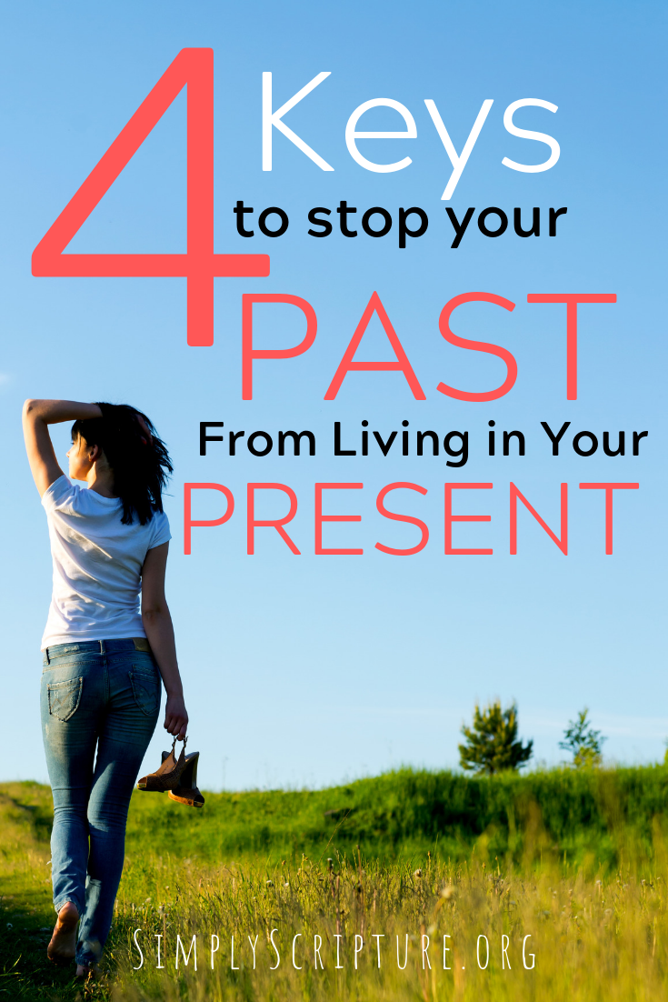 How do you keep your past from living in your present? The Bible gives us 4 keys that will help you get over your past, put it behind you, and have joy in your present circumstances. Simply Scripture.