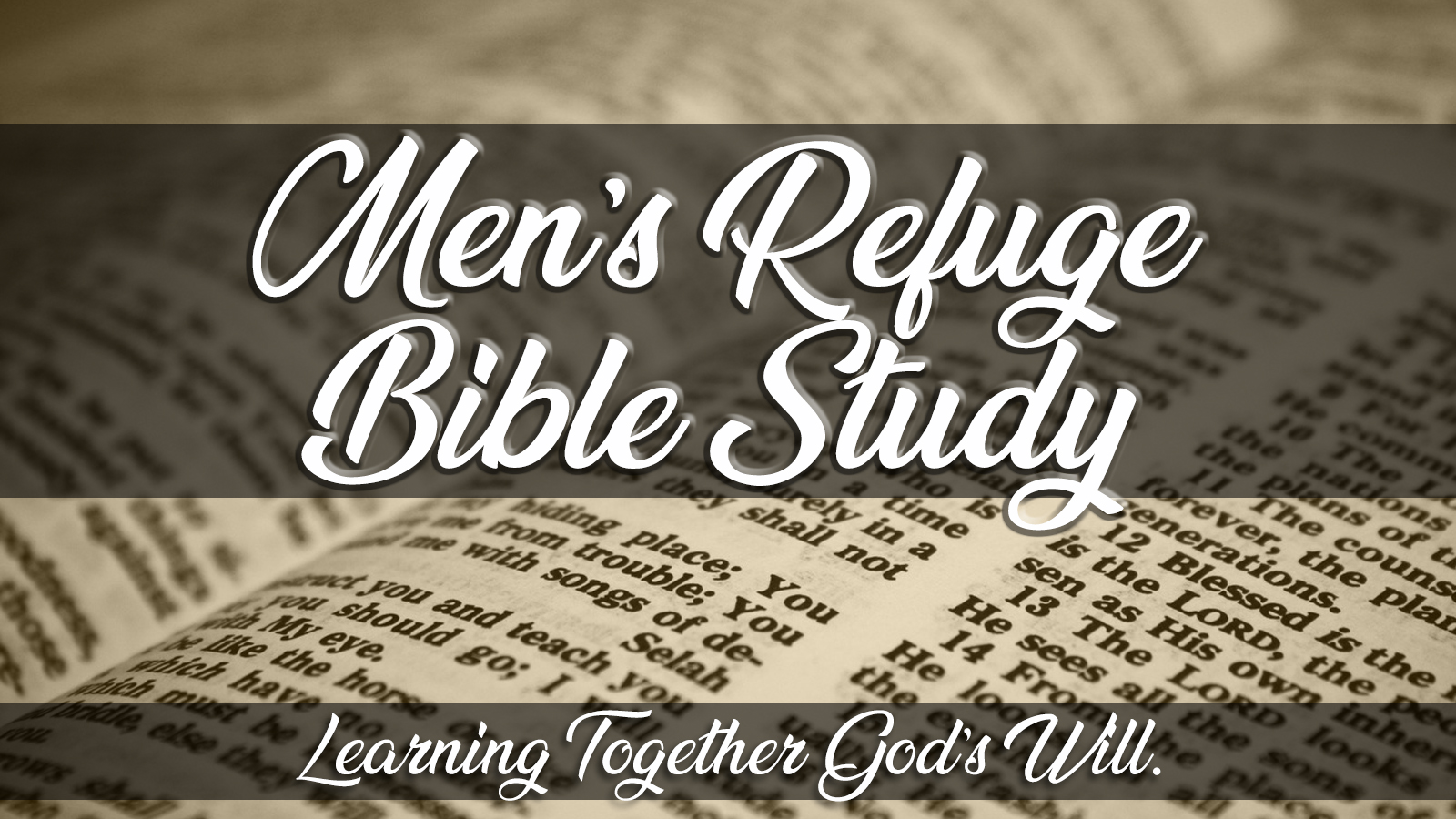 Learning together God's word. Every Wednesday 6:30pm @ Refuge Contact: Dean 843-635-3682