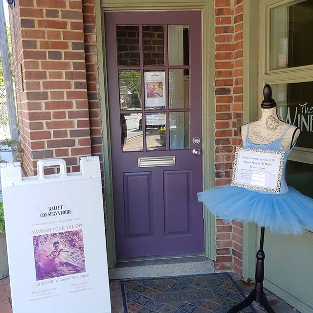 Look for the tutu and climb the stairs...we are here from 10 am to 1 pm to Awaken Your Talent!