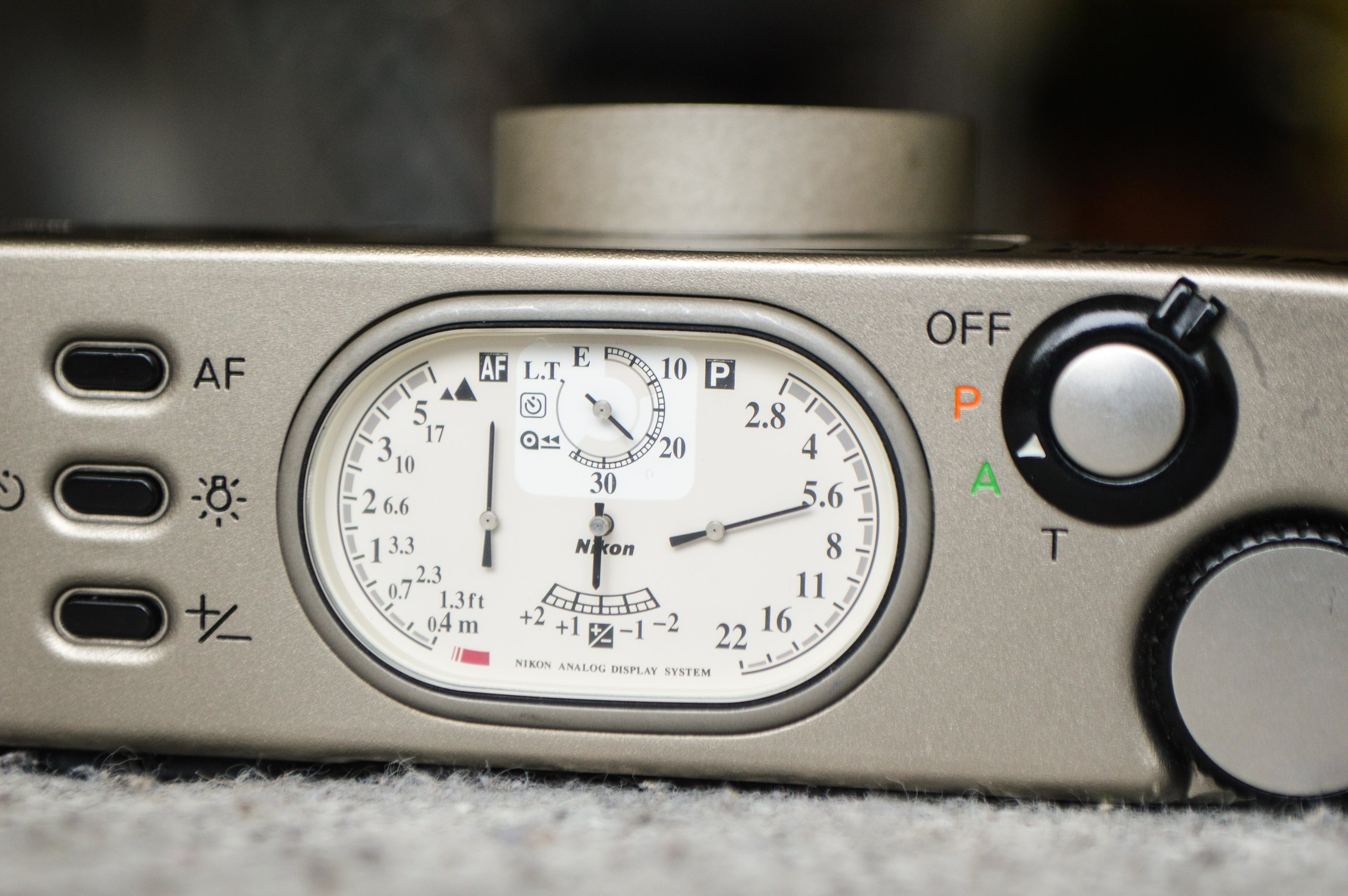 love these analogue dials, and its really handy to see your aperture  on the body of the camera rather than on a screen.