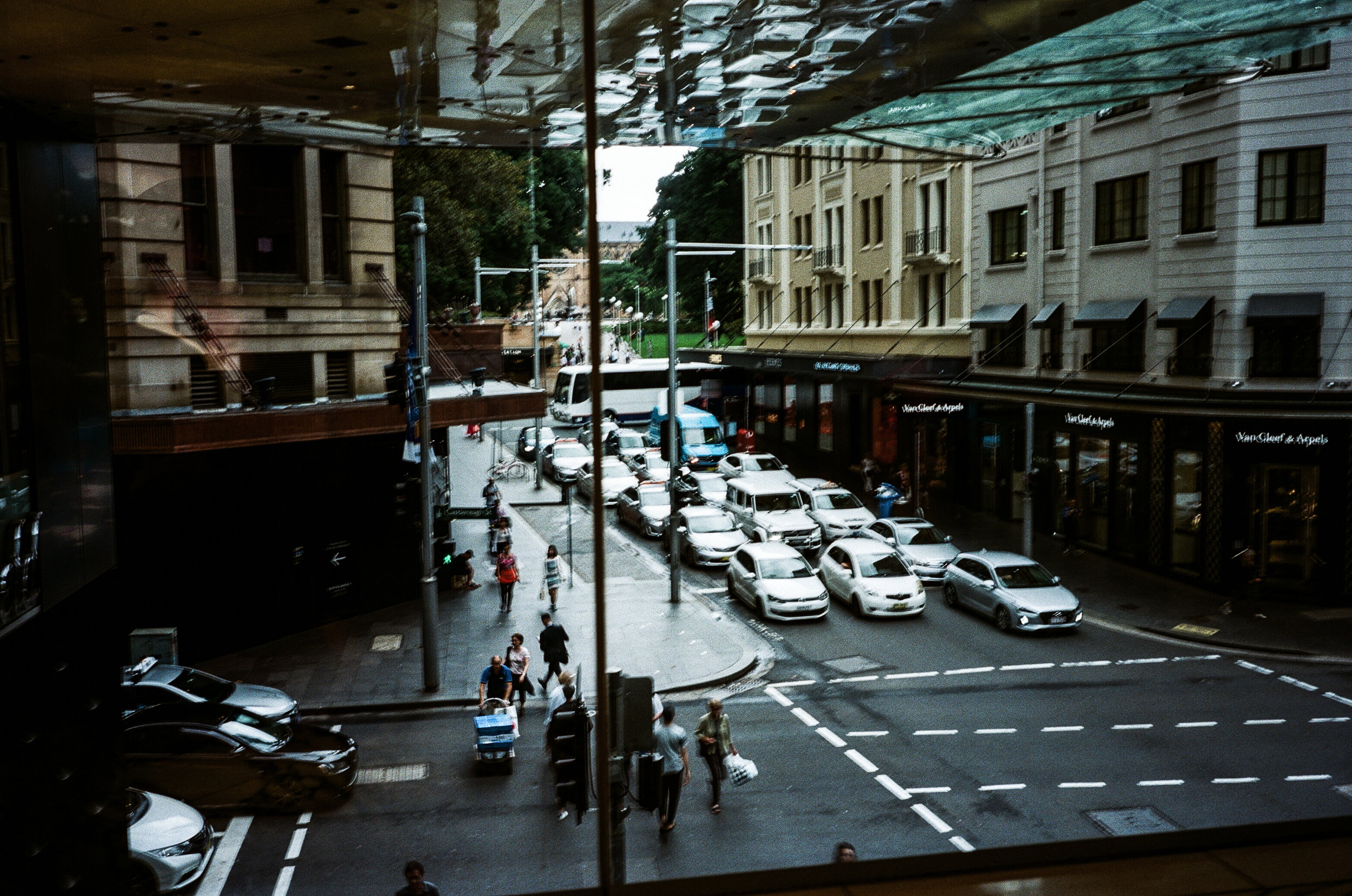 A rare grey day in the CBD