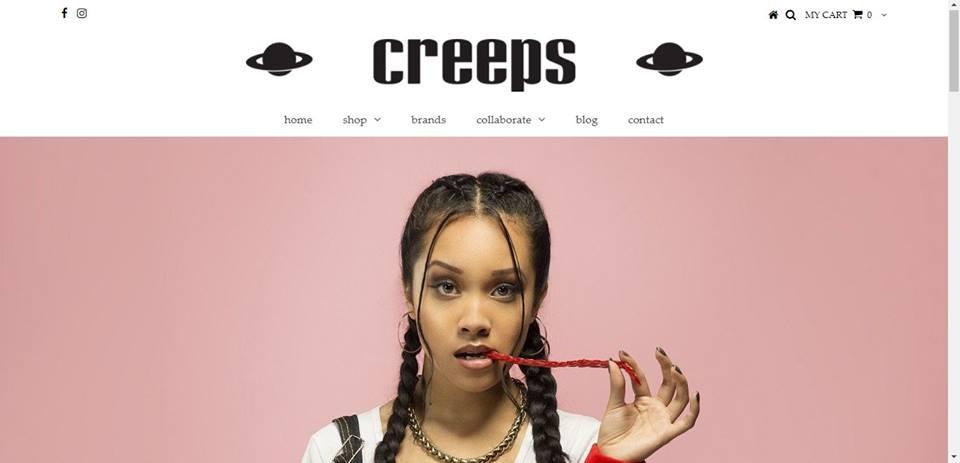 Creeps Clothing Store , Advertisement. Toronto