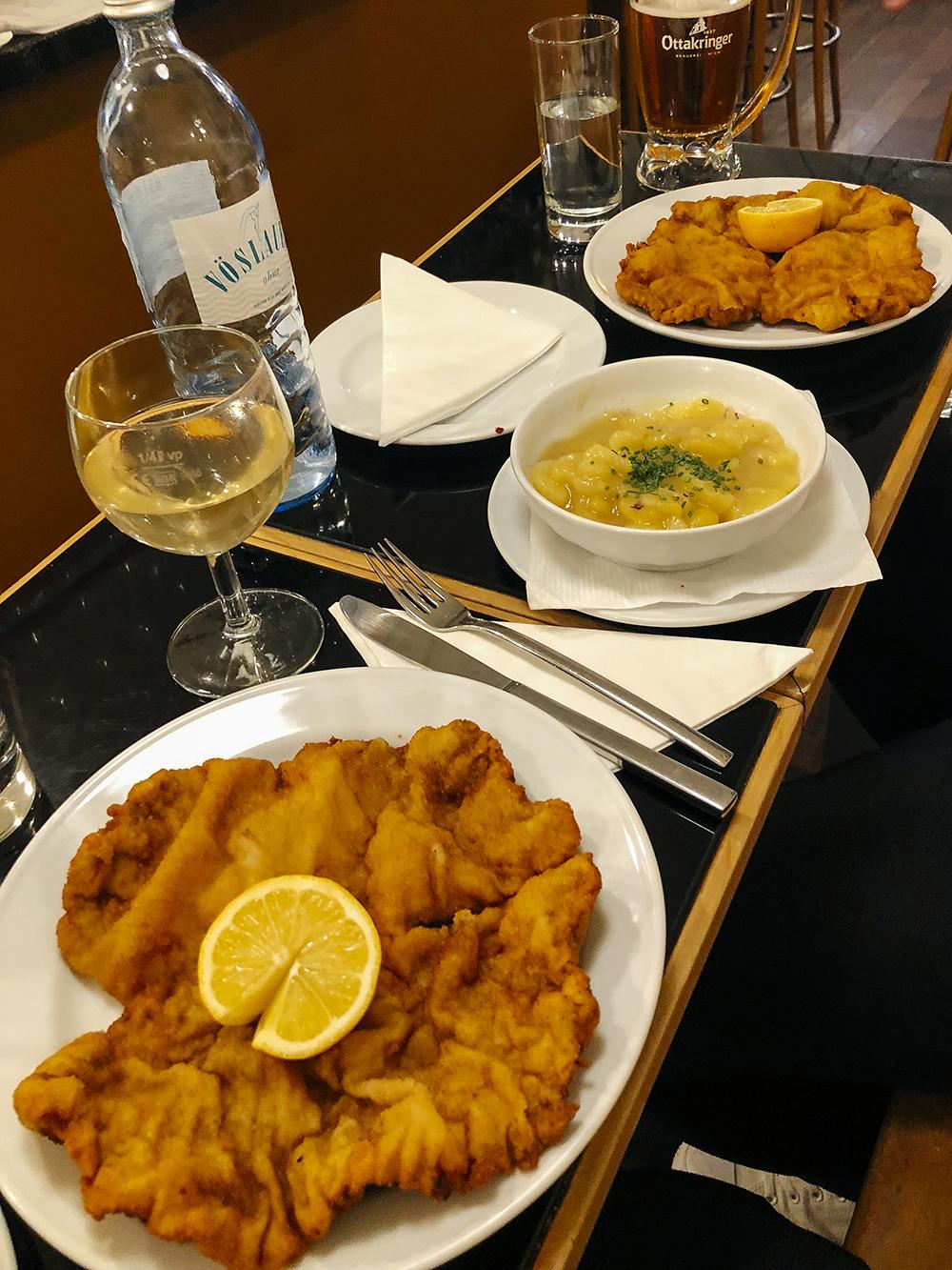 Schnitzel & Potato Salad at Gasthaus Poschel