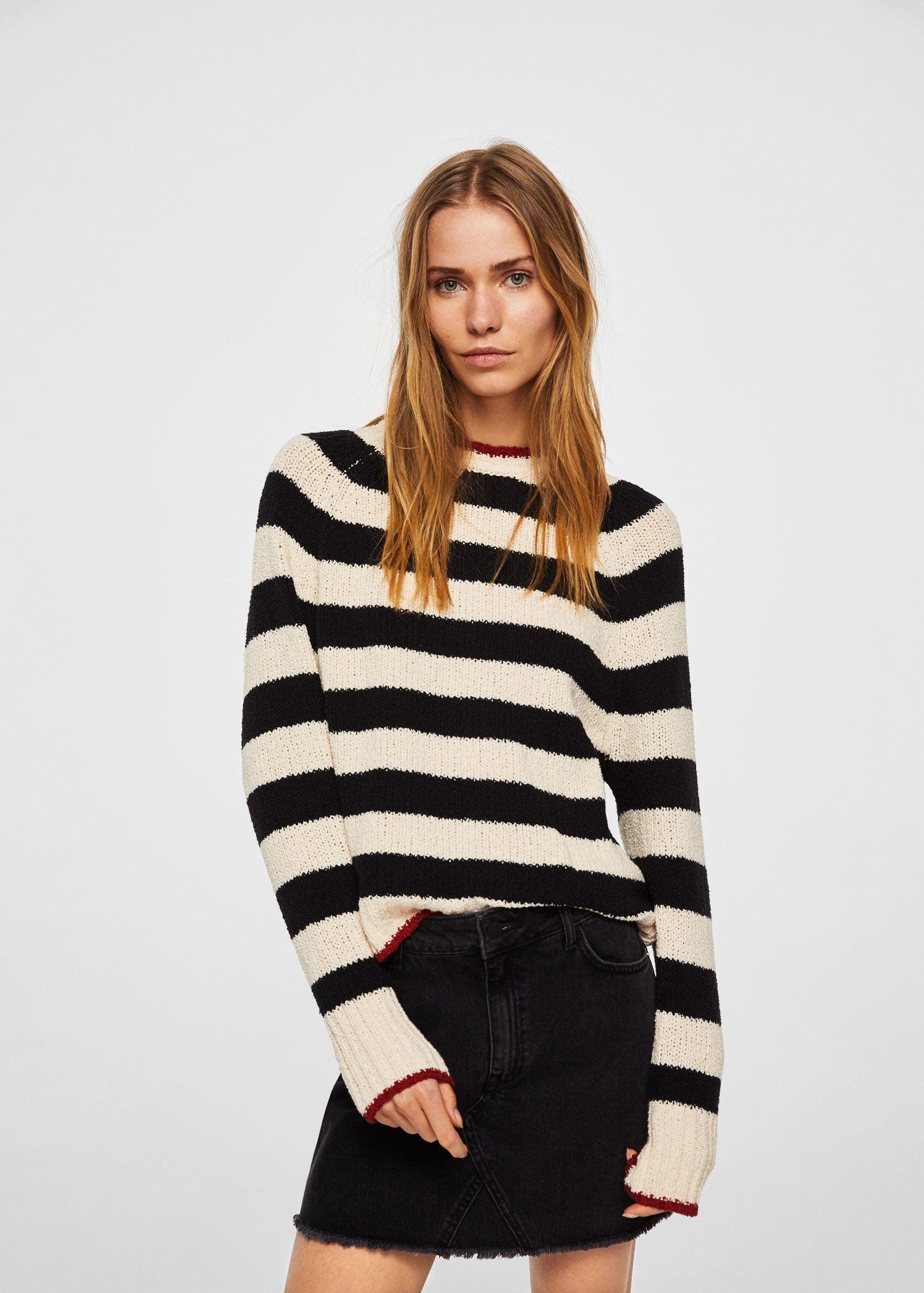 MANGO (MNG) Stripe pattern sweater $59.95